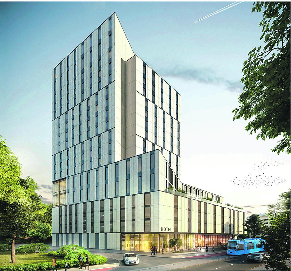 Projekcija hotela koji će se uskoro graditi na križanju Savske i Nove ceste