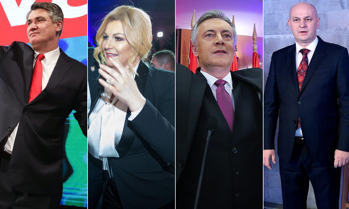 Zoran Milanović, Kolinda Grabar-Kitarović, Miroslav Škoro, Mislav Kolakušić