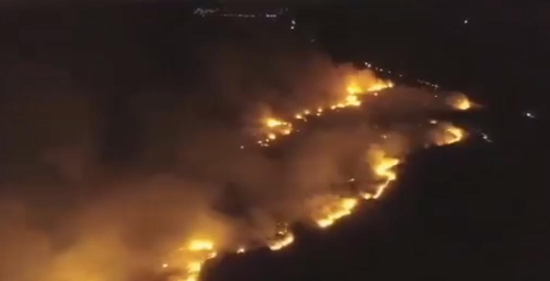 Požar na Pagu, 6.1.2020.