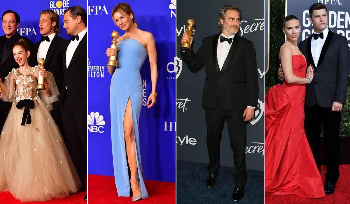 Ekipa iz filma 'Bilo jednom u Hollywoodu'; Renée Zellweger; Joaquin Phoenix, Scarlett Johansson i Colin Jost