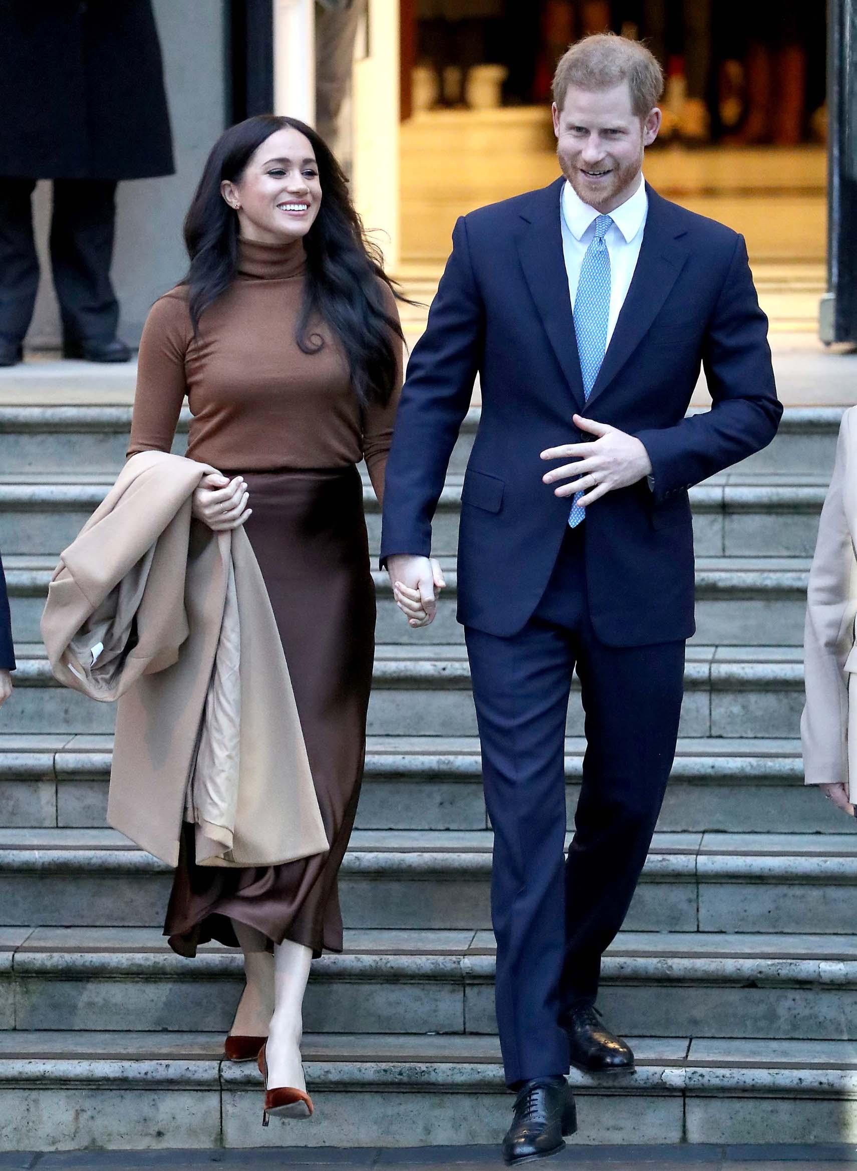 Dan prije objave posjetili su Kanadsku kuću u Londonu