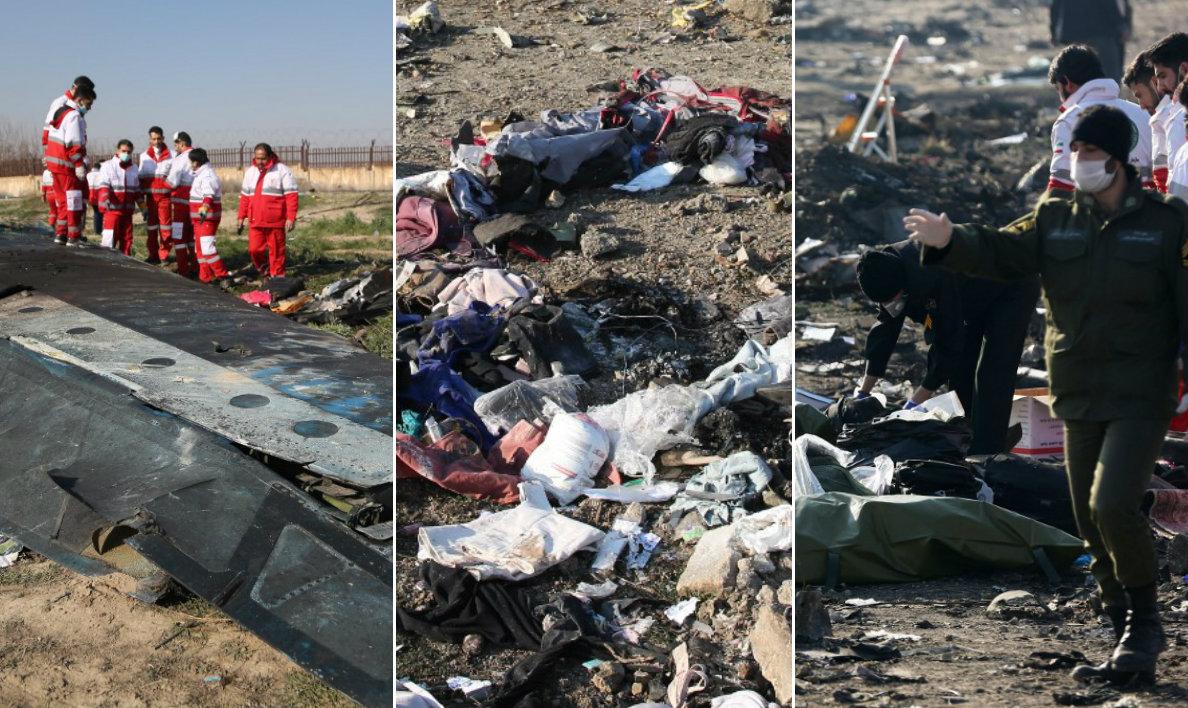 Pad zrakoplova u Iranu