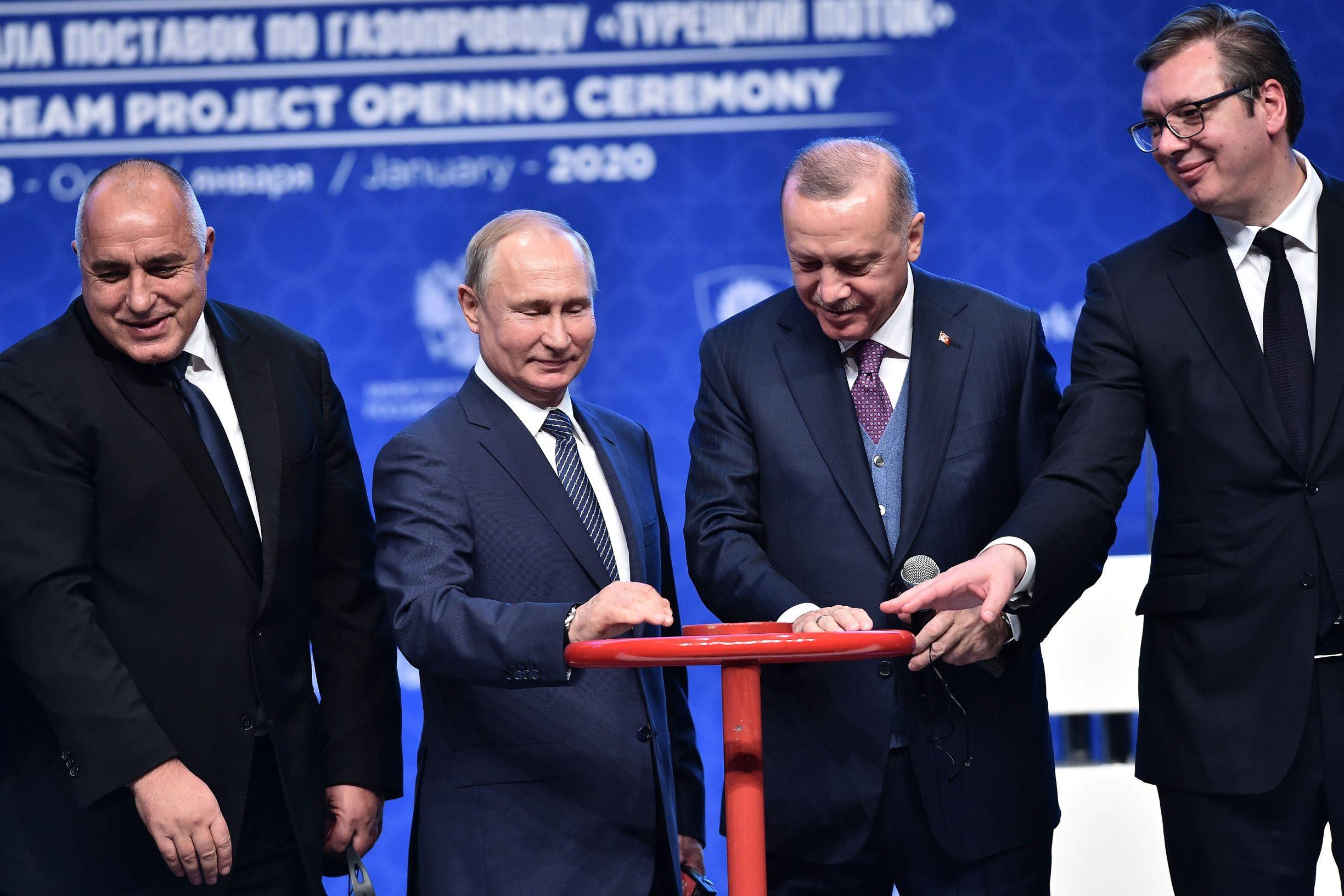 Bojko Borissov, Vladimir Putin, Recep Tayyip Erdogan i Aleksandar Vučić