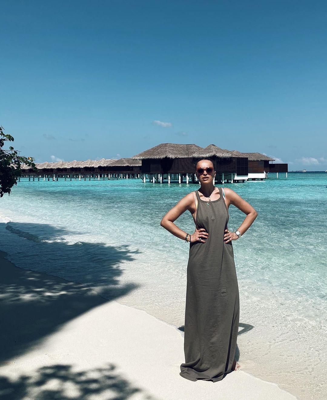 Ljupka Gojić Mikić na zimovanju na Maldivima