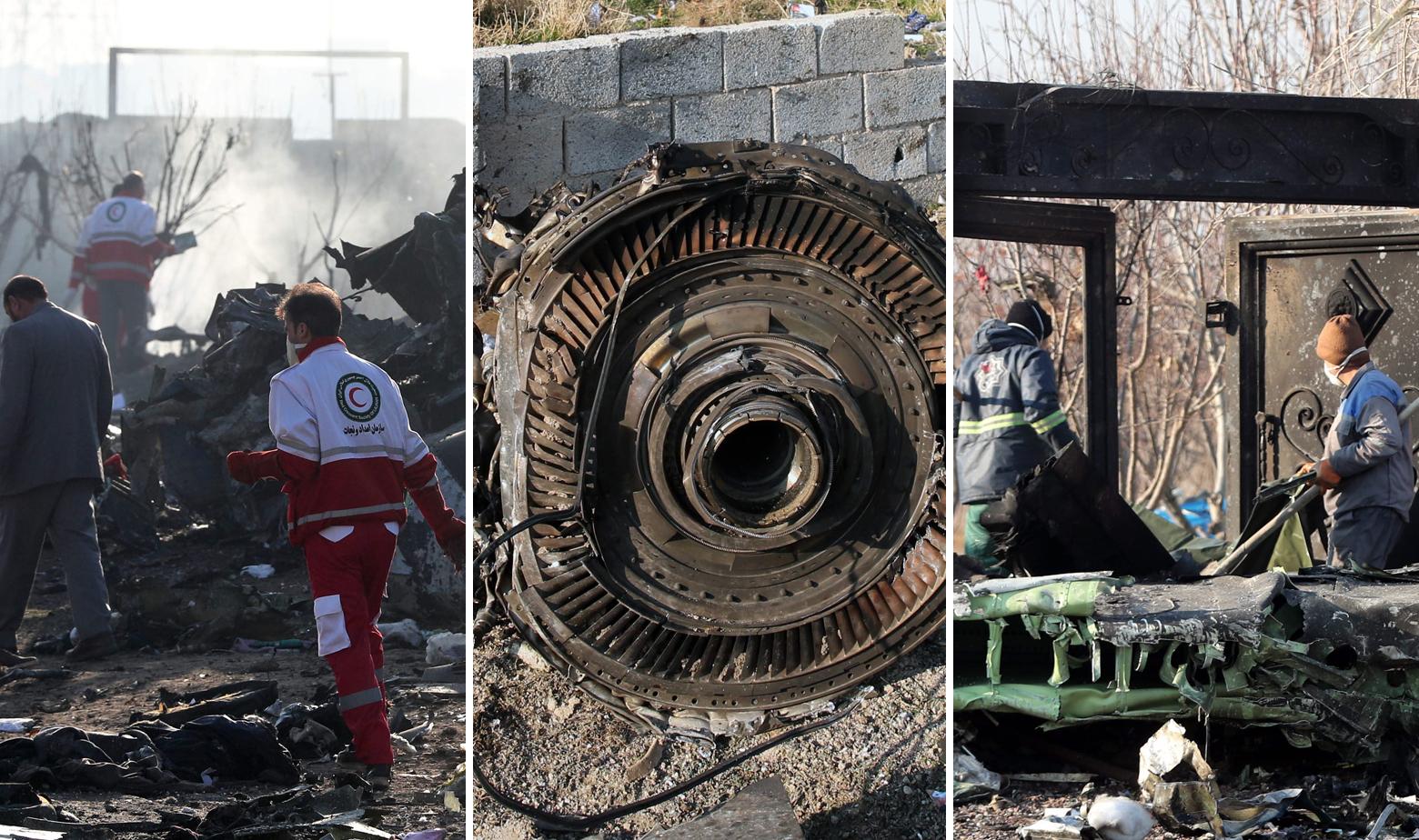 Mjesto pada ukrajinskog zrakoplova u Iranu