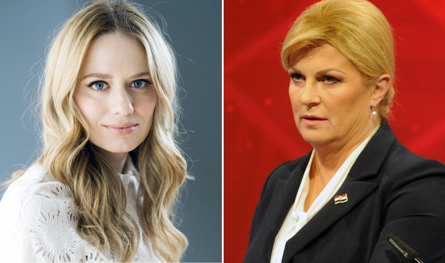 Jelena Veljača i Kolinda Grabar-Kitarović