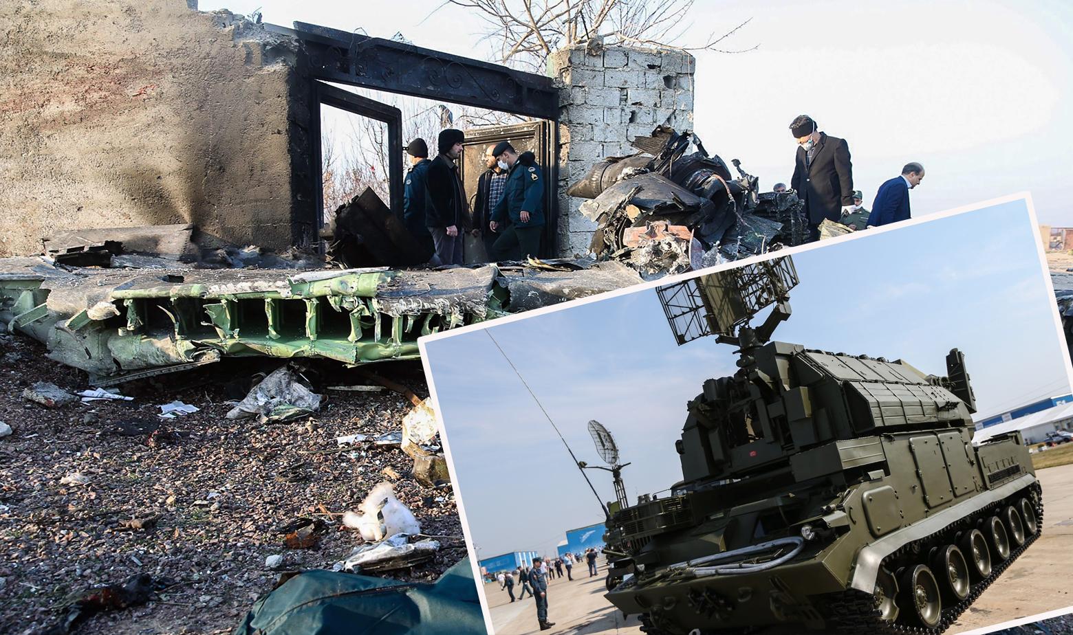 Ostaci srušenog ukrajinskog aviona i sustav Tor-M1