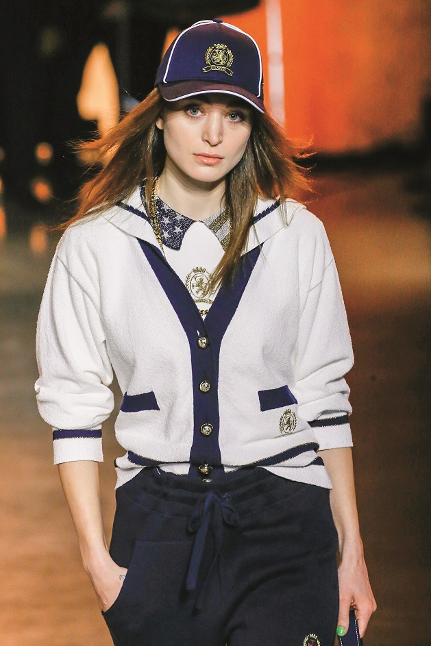 Model walks on the runway at the Tommy Hilfiger fashion show during Fall / Winter 2020 / 2021 London Fashion Week in London, England on Feb. 16, 2020.,Image: 499097275, License: Rights-managed, Restrictions: *** World Rights ***, Model Release: no, Credit line: Jonas Gustavsson / ddp USA / Profimedia