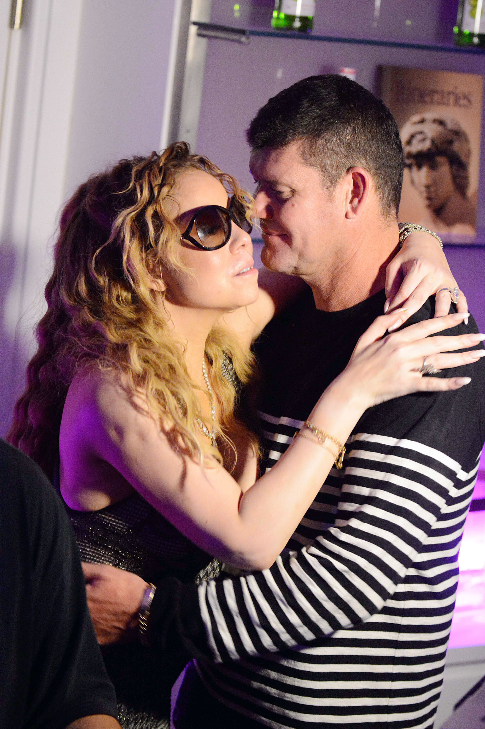 25 JULY 2016 - Capri - Italy  *** EXCLUSIVE PICTURES NOT AVAILABLE FOR ITALY, FRANCE GERMANY AND SPAIN ***  Singer Mariah Carey pictured partying the night away with Billionaire Australian Boyfriend James Packer while on Holiday in Capri, The happy couple can be seen looking very much loved up as they are seen dancing and smooching while knocking back the drinks on the dance floor before leaving with friends and security and heading to their awaiting boat back to the super yacht.,Image: 294939170, License: Rights-managed, Restrictions: EXCLUSIVE PICTURES - ***EXCLUSIVE PICTURES NOT AVAILABLE FOR ITALY, FRANCE GERMANY AND SPAIN*** *UK CLIENTS - PLEASE PIXELATE CHILDS FACE BEFORE PUBLICATION **UK CLIENTS MUST CALL PRIOR TO TV OR ONLINE USAGE PLEASE TELEPHONE 44 208 344 2007**, Model Release: no, Credit line: CPRMP / Backgrid UK / Profimedia