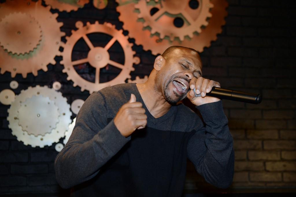 2729387 10/30/2015 Russian citizen Roy Jones Jr. performs at the restaurant,