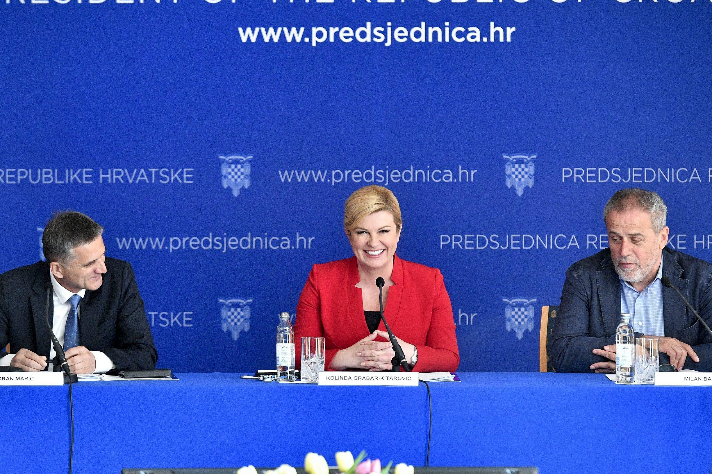 Goran Marić, Kolinda Grabar-Kitarović, Milan Bandić
