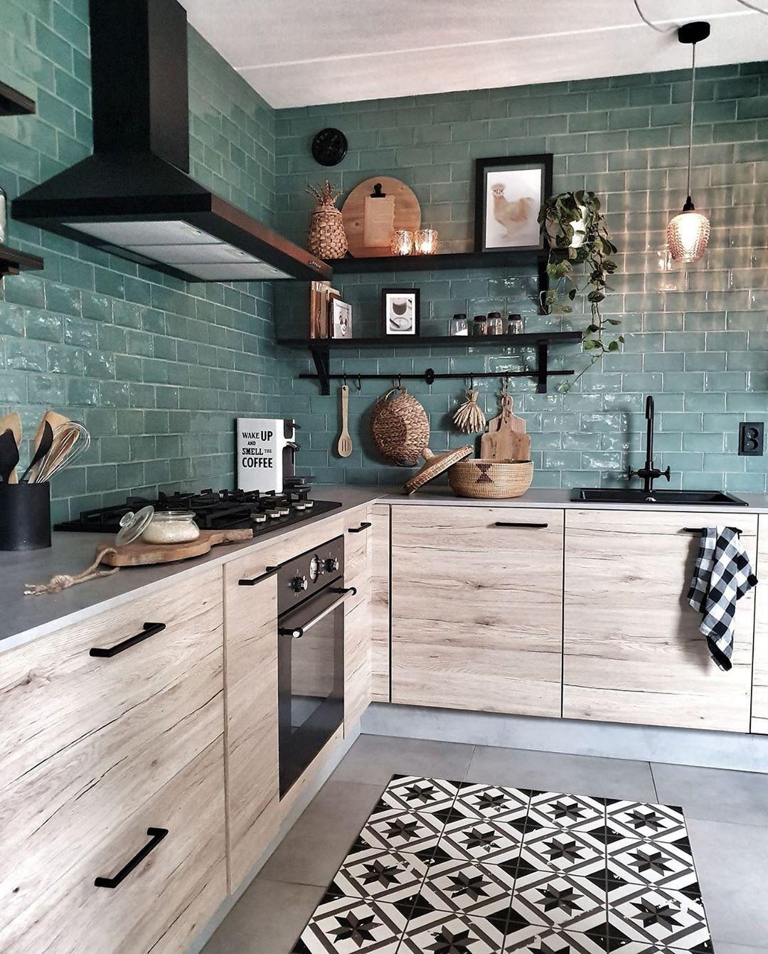 zelena boja u kuhinji