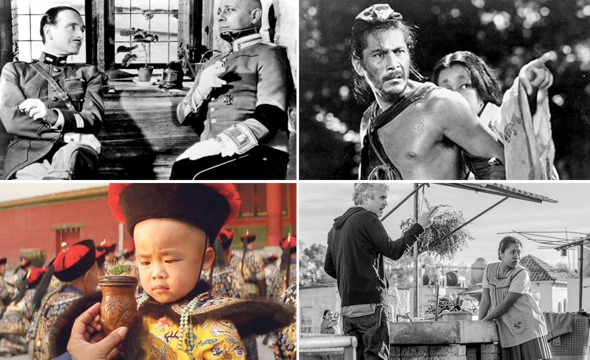 'Velika iluzija' (gore lijevo), 'Rashomon' (gore desno), 'Posljednji kineski car' (dolje lijevo) i 'Roma' (dolje desno)