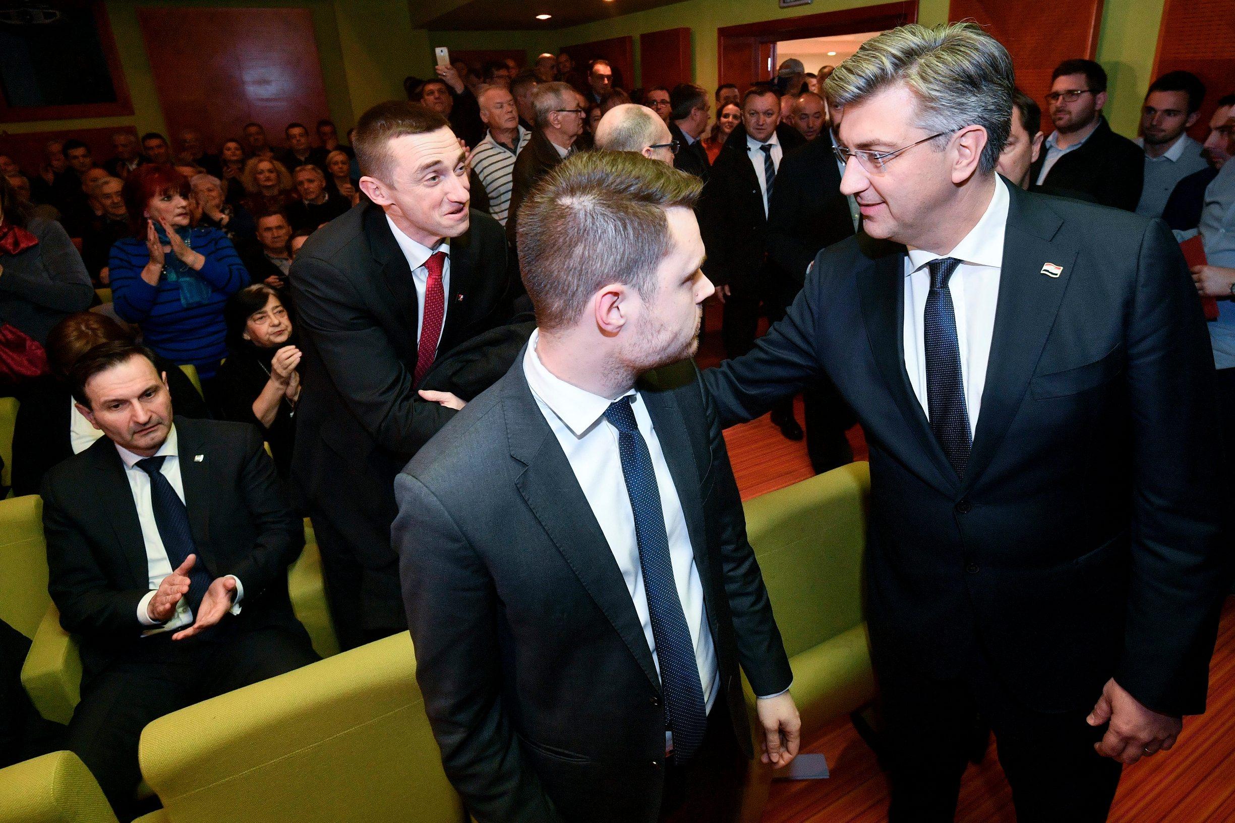 Miro Kovač, Ivan Penava, Andrej Plenković