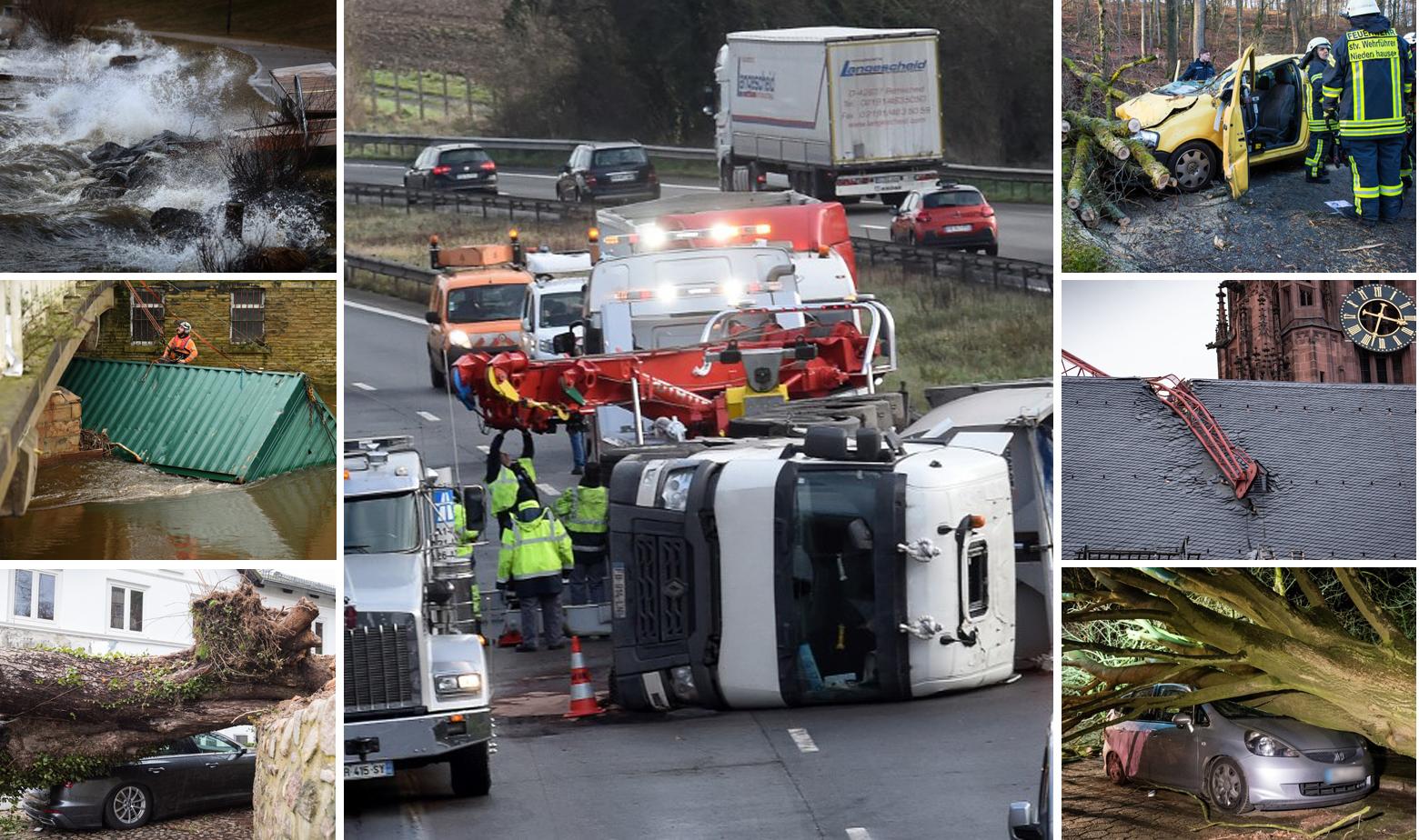 Prizori štete i nesreća koju je izazvala oluja Ciara diljem Europe