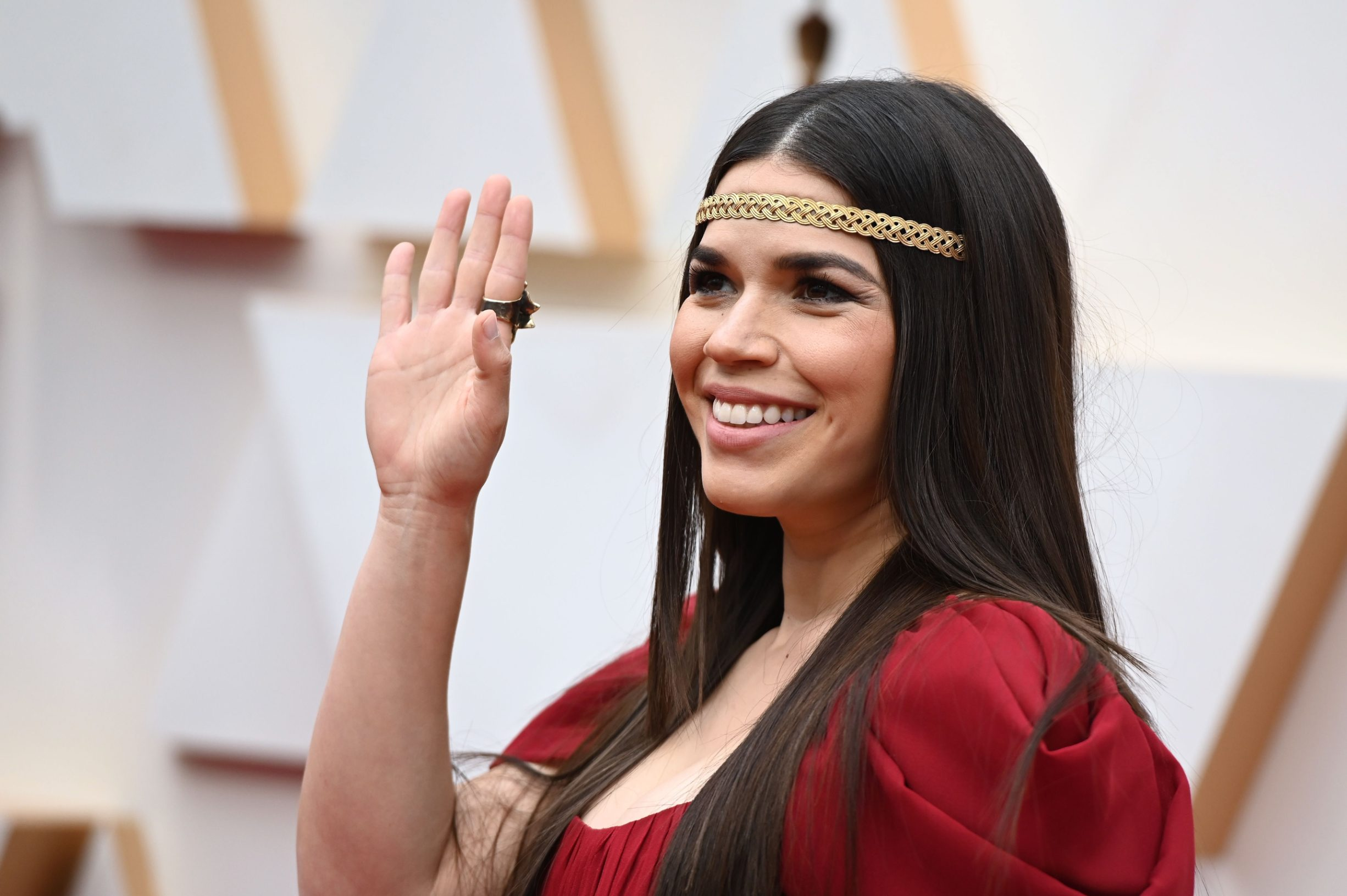 US actress America Ferrera arrives for the 92nd Oscars at the Dolby Theatre in Hollywood, California on February 9, 2020. (Photo by Robyn Beck / AFP)