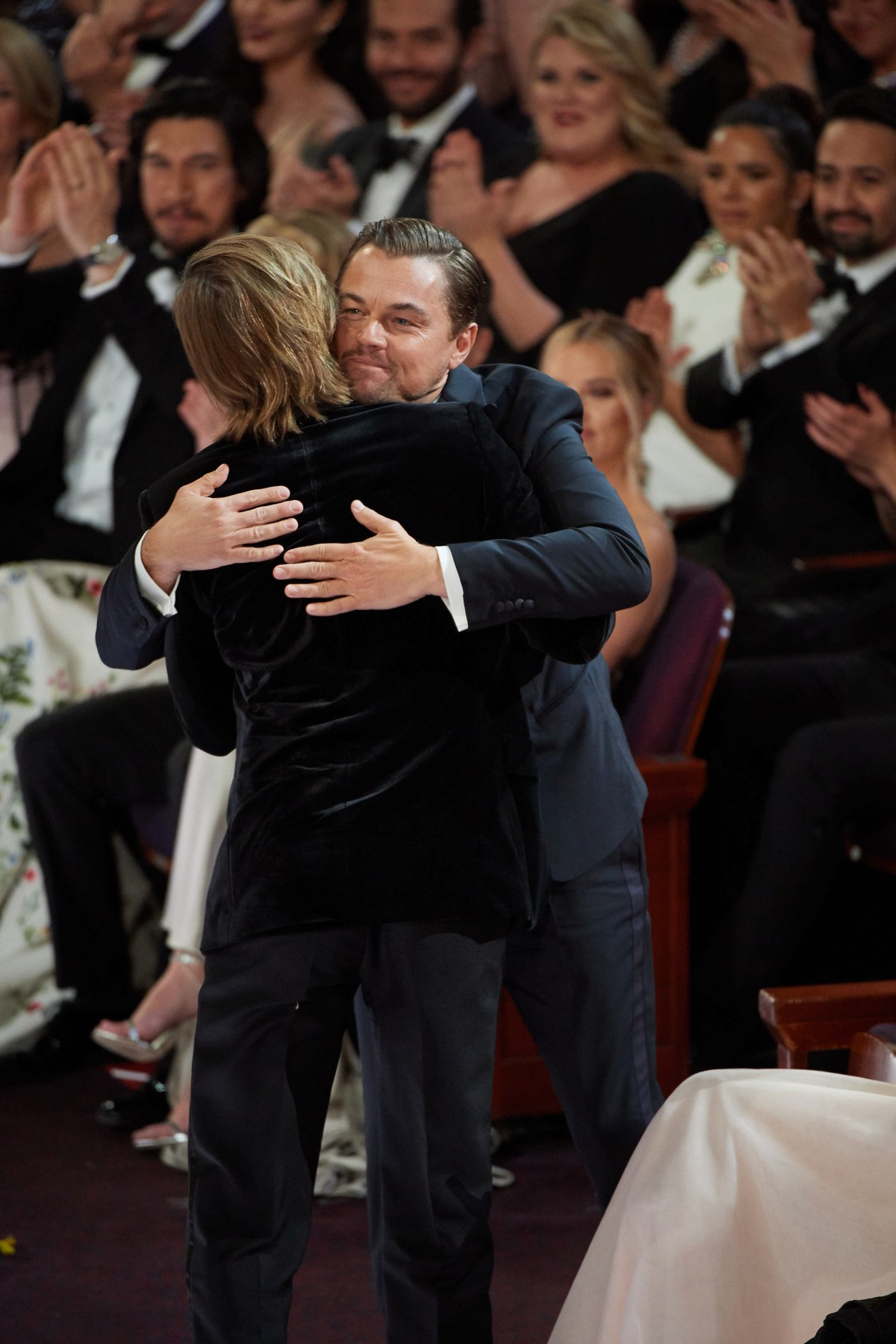 Oscar® nominees Leonardo DiCaprio and Brad Pitt during the live ABC Telecast of The 92nd Oscars® at the Dolby® Theatre in Hollywood, CA on Sunday, February 9, 2020., Image: 497507794, License: Rights-managed, Restrictions: For Editorial Use Only, Model Release: no, Credit line: Michael Yada / PictureLux / Profimedia