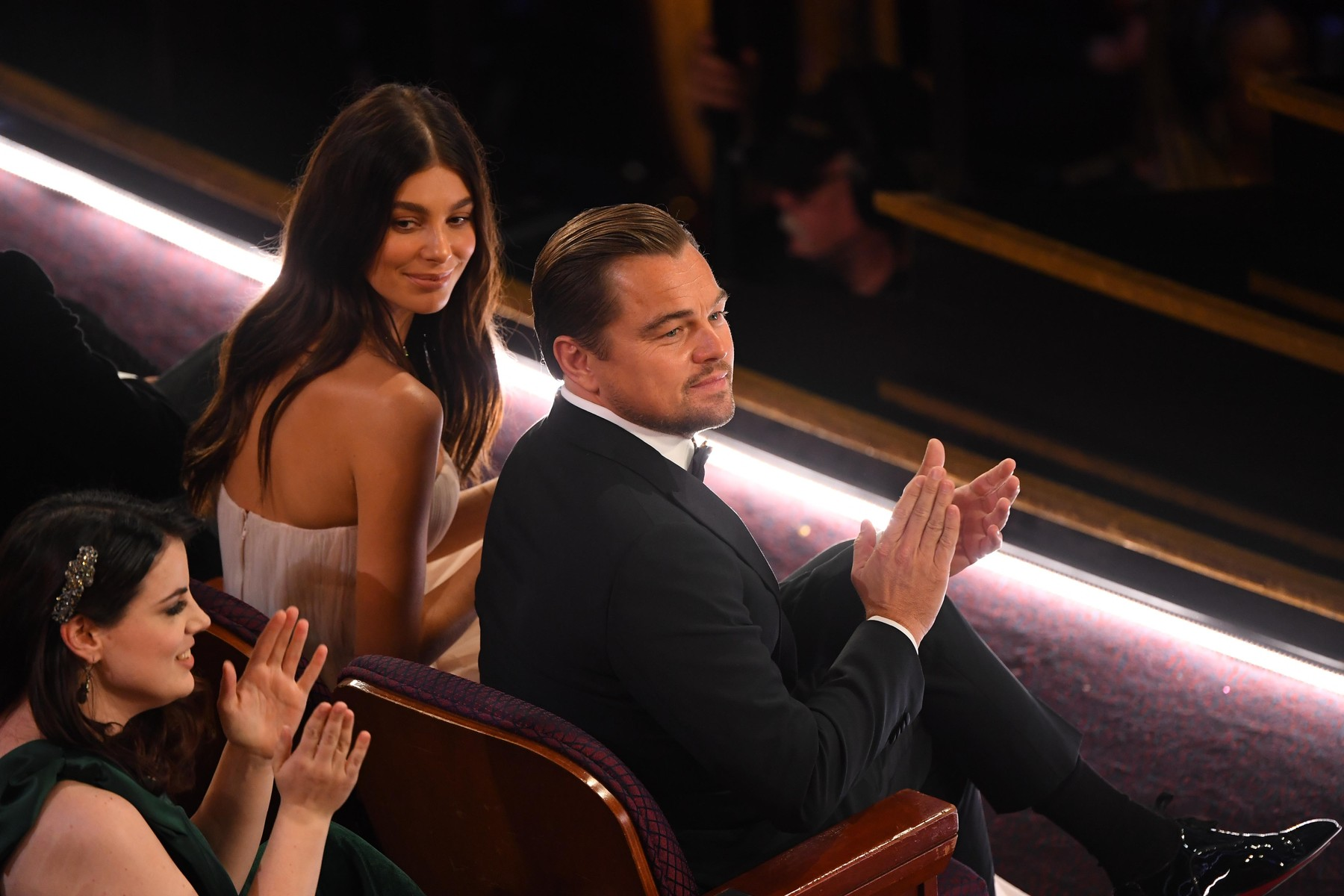 Feb 9, 2020; Los Angeles, CA, USA;   Leonardo Dicaprio (right) and Camila Morrone in the audience during the 92nd Academy Awards at Dolby Theatre., Image: 497506017, License: Rights-managed, Restrictions: *** World Rights ***, Model Release: no, Credit line: USA TODAY Network / ddp USA / Profimedia