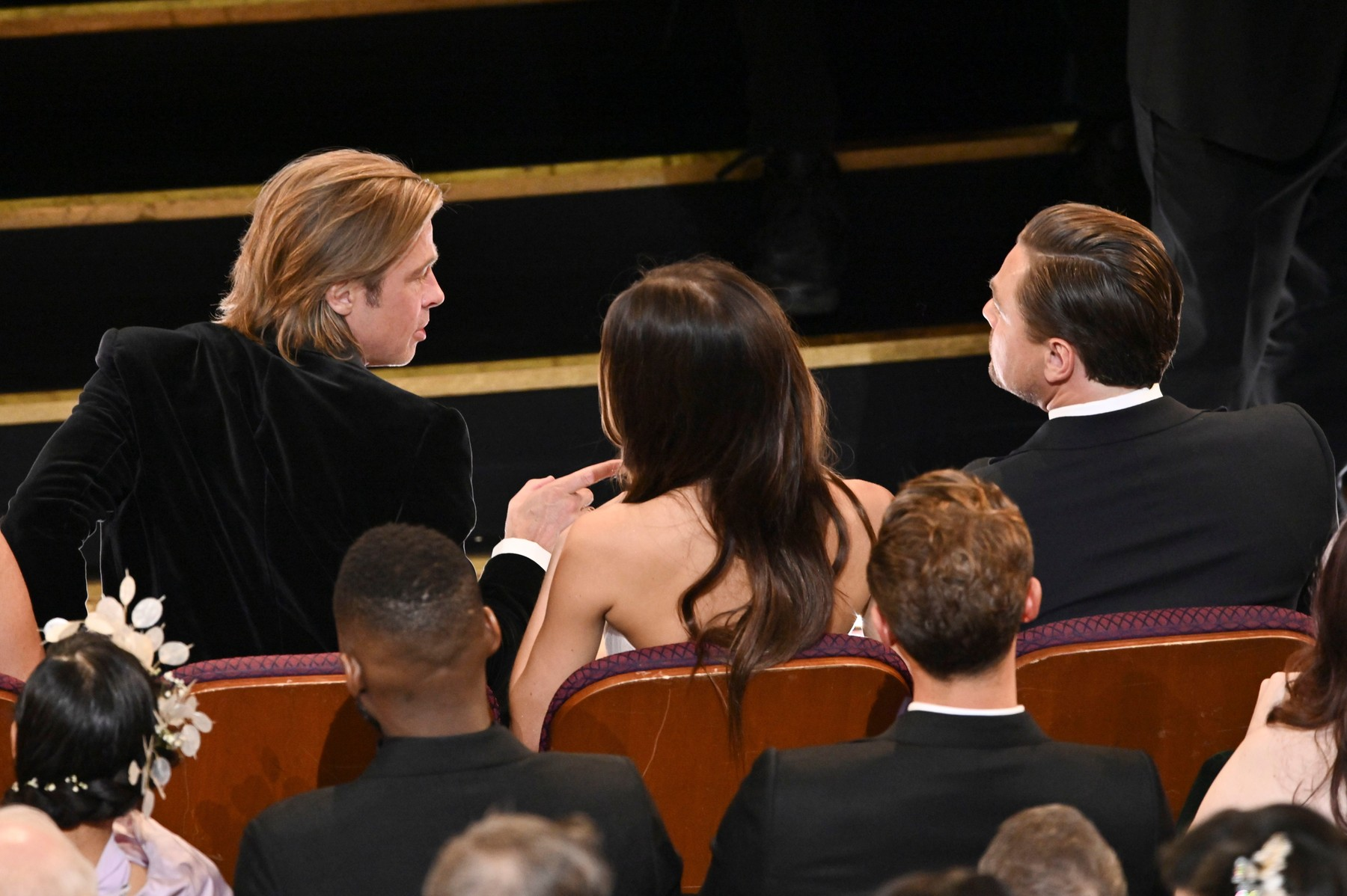 Brad Pitt, Camila Morrone and Leonardo DiCaprio 92nd Annual Academy Awards, Show, Los Angeles, USA - 09 Feb 2020, Image: 497485851, License: Rights-managed, Restrictions: , Model Release: no, Credit line: Rob Latour / Shutterstock Editorial / Profimedia