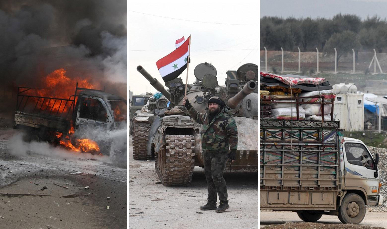 Prizori iz Idliba, sirijska vojska u sredini
