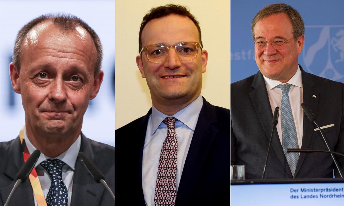 Friedrich Merz, Jens Spahn, Armin Laschet