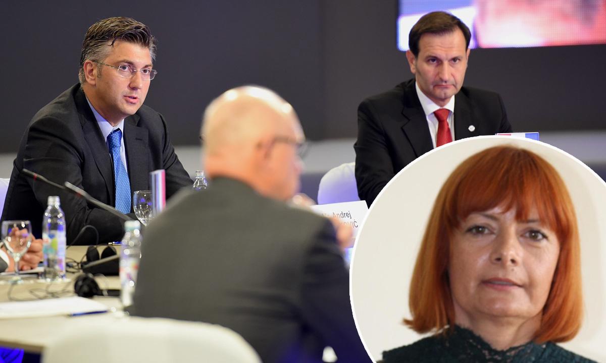 Andrej Plenković, Miro Kovač, Marijana Šunić (u krugu)