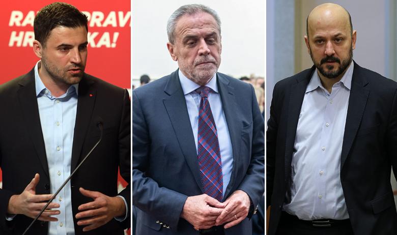 Davor Bernardić, Milan Bandić i Gordan Maras