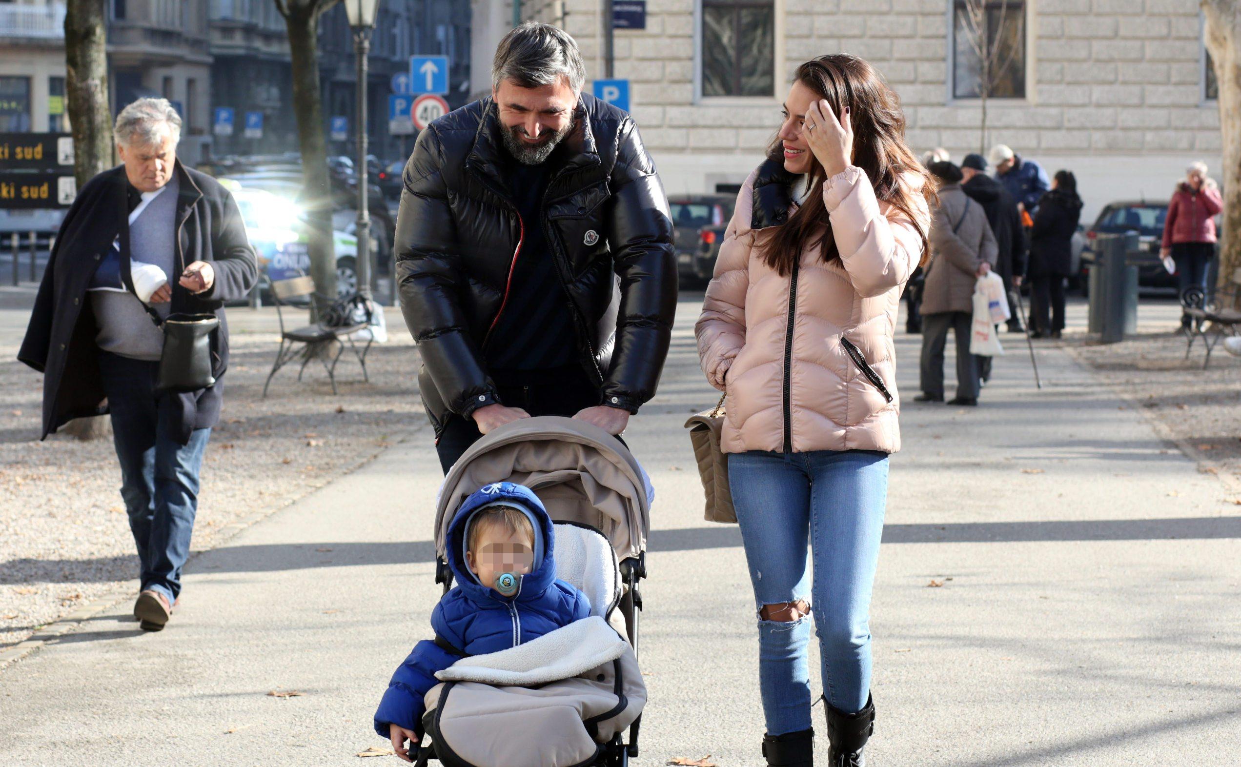 Goran i Nives Ivanišević sa sinom Oliverom