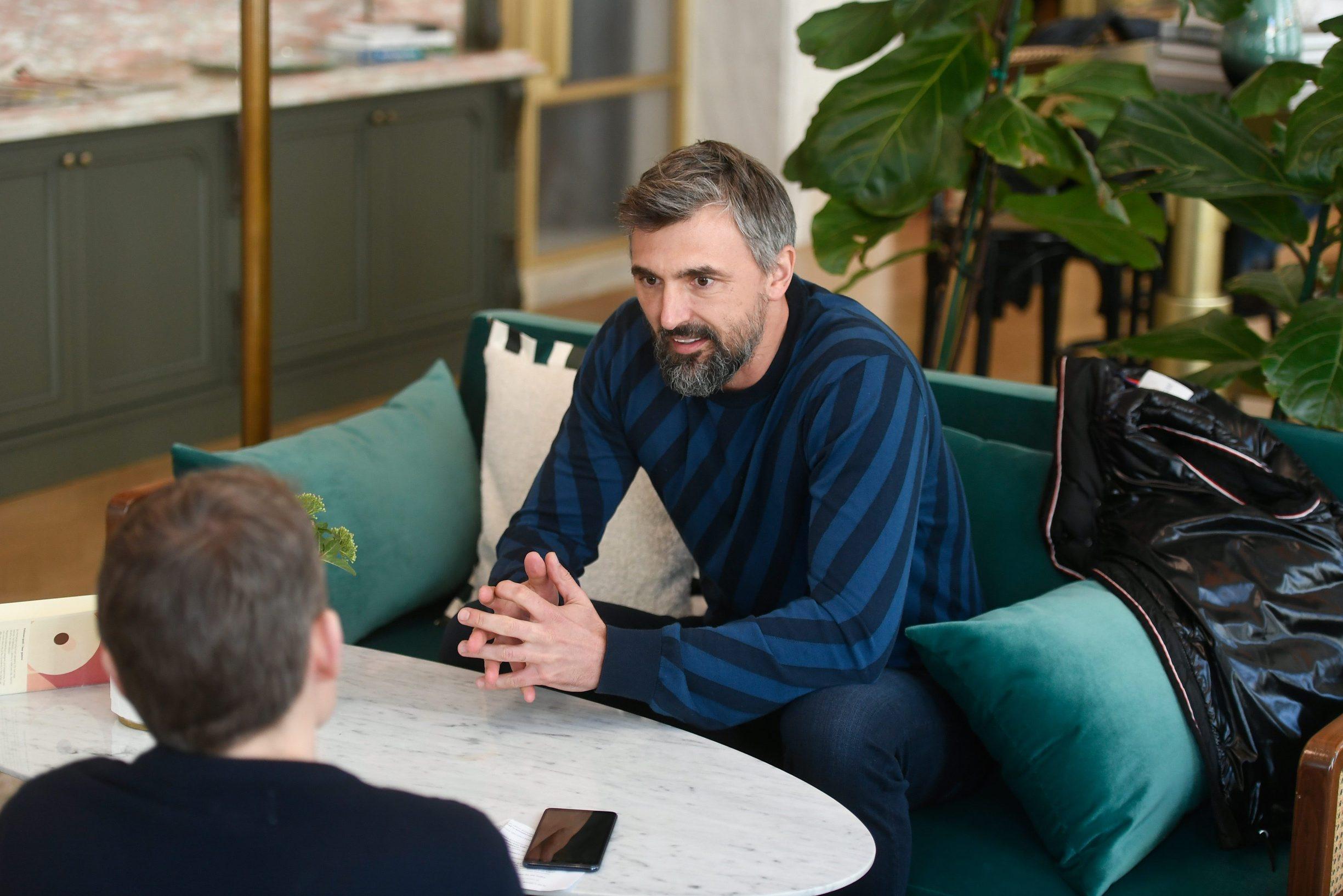 Zagreb, 130220. Jurisiceva. Intervju s Goranom Ivanisevicem. Foto: Goran Mehkek / CROPIX
