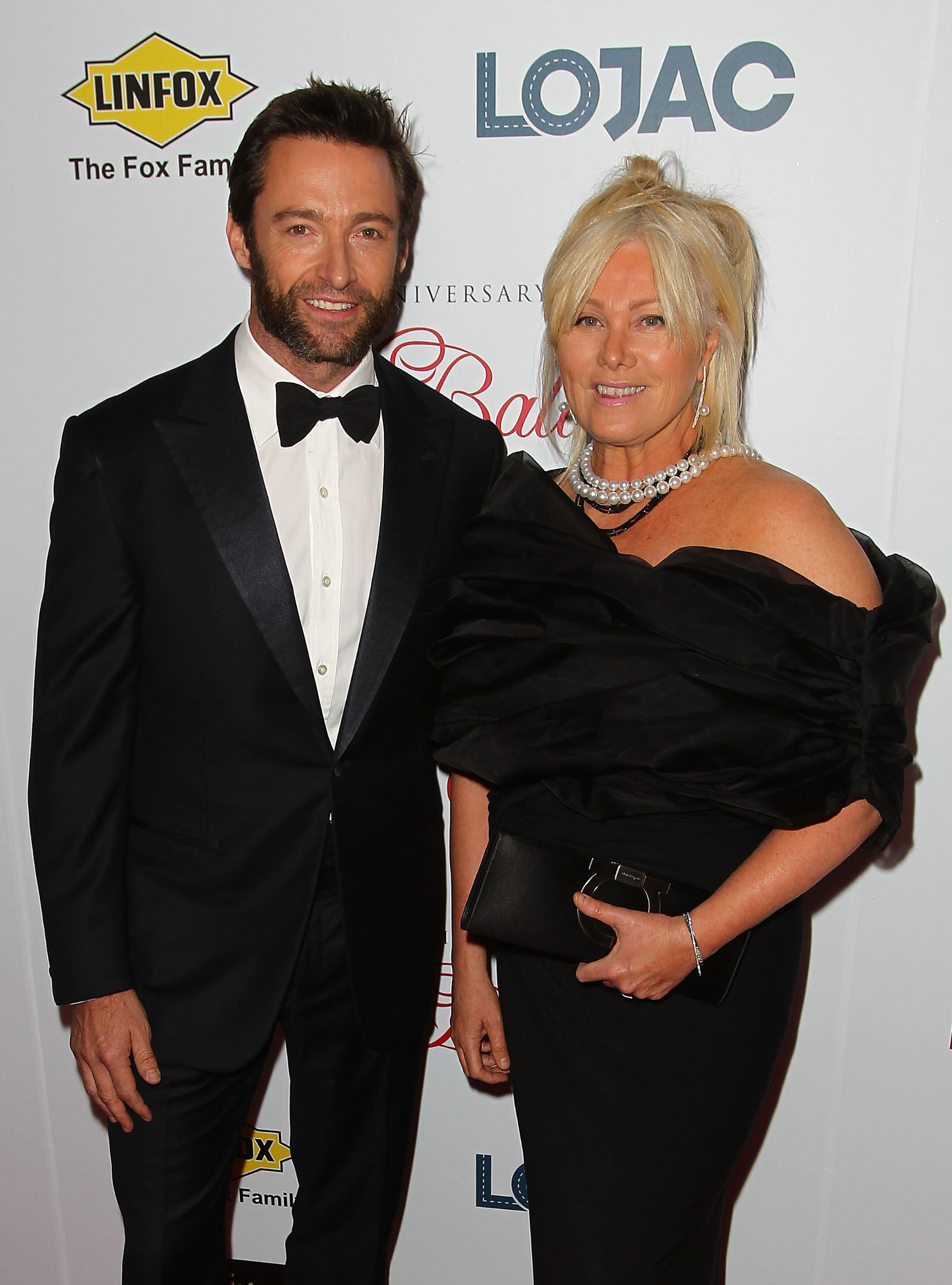MELBOURNE, AUSTRALIA - OCTOBER 20:  Actor Hugh Jackman and wife Deborra-Lee Furness arrive at the Fight Cancer Foundation's 20th Annual Red Ball on October 20, 2012 in Melbourne, Australia.  (Photo by Graham Denholm/Getty Images)