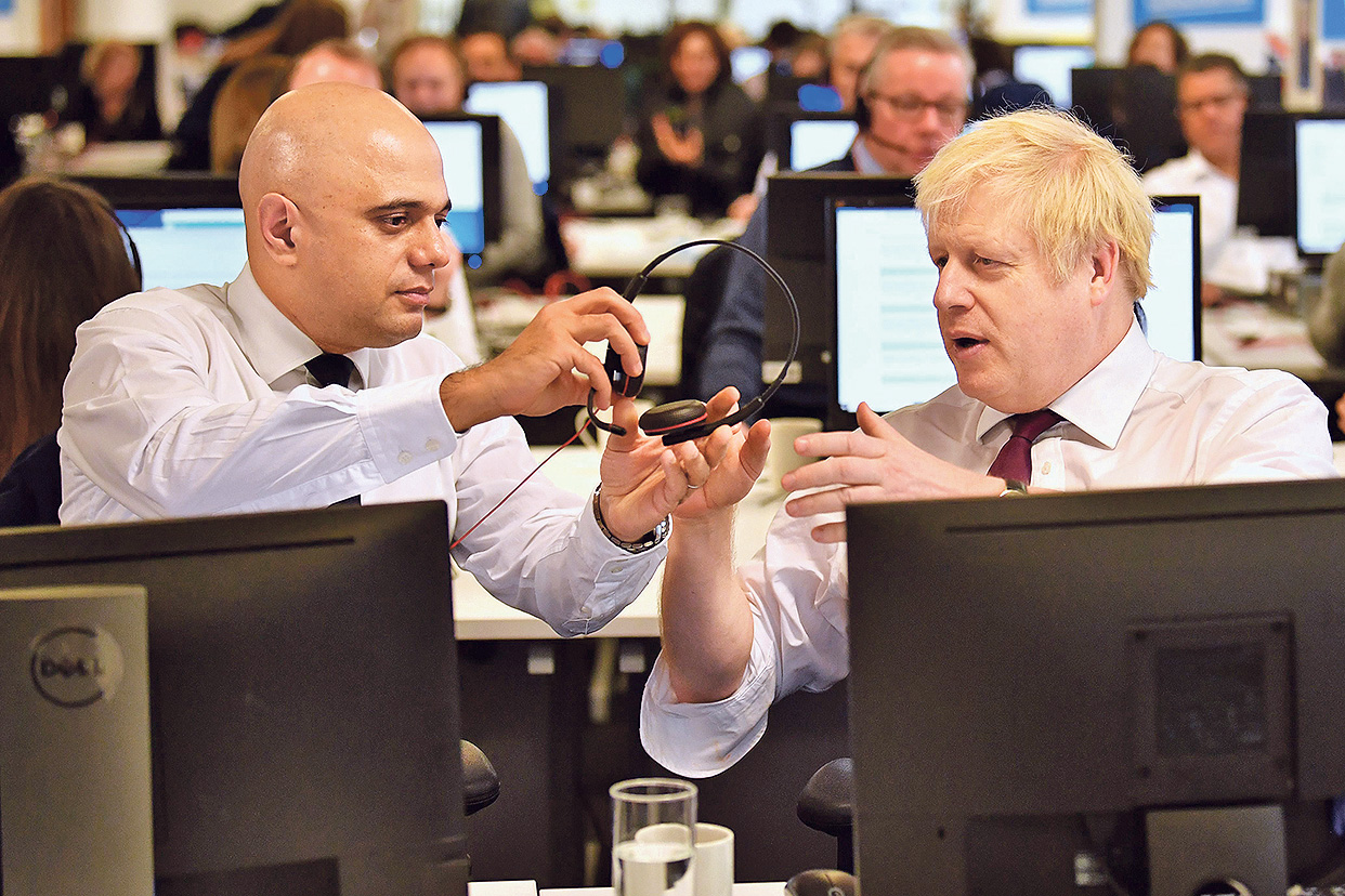 Sajid Javid i Boris Johnson