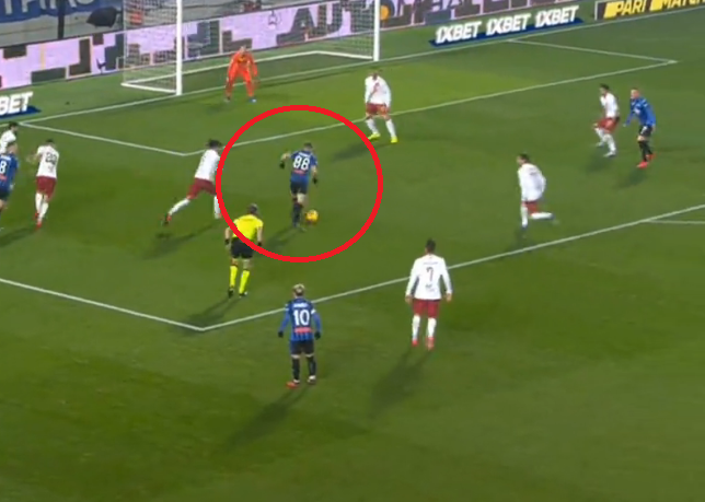 pašalić gol atalanta roma foto screenshot