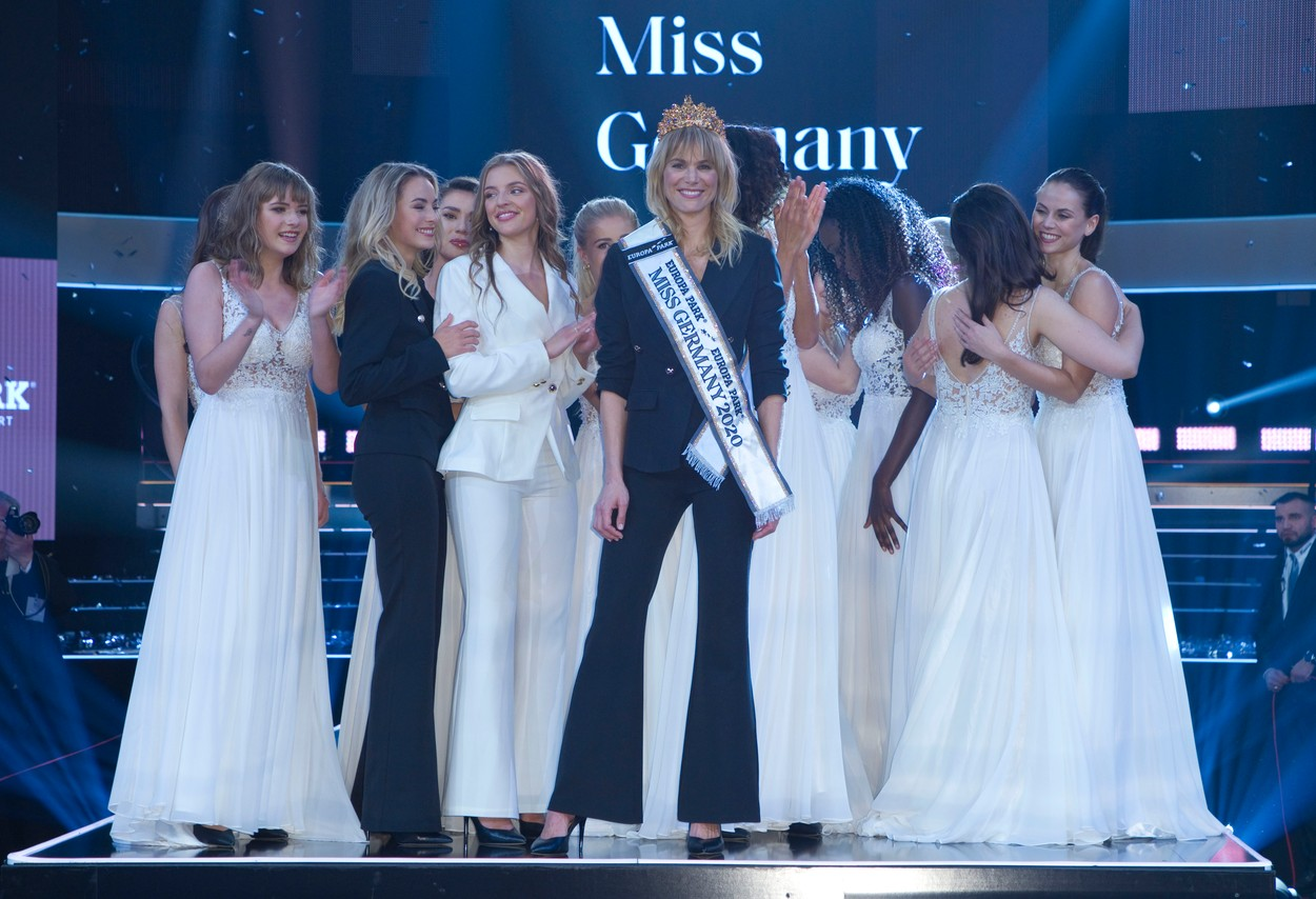 Rust, Germany - February 15, 2020: Miss Germany Beauty Pageant Election at Europa-Park with Winner Leonie Charlotte von Hase, Miss Schleswig-Holstein and other Contestants, Image: 498964752, License: Rights-managed, Restrictions: *** World Rights Except Germany ***, Model Release: no, Credit line: Mandoga Media / ddp USA / Profimedia