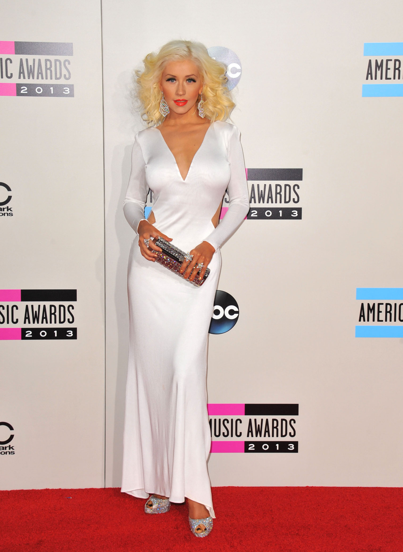 November 24 2013, LA  Christina Aguilera arriving at the 2013 American Music Awards at Nokia Theatre L.A. Live on November 24, 2013 in Los Angeles, California.  By Line: Peter West/ACE Pictures   ACE Pictures, Inc. tel: 646 769 0430 Email: info@acepixs.com, Image: 177780003, License: Rights-managed, Restrictions: Cat.2, Model Release: no, Credit line: Peter West / Acepixs / Profimedia