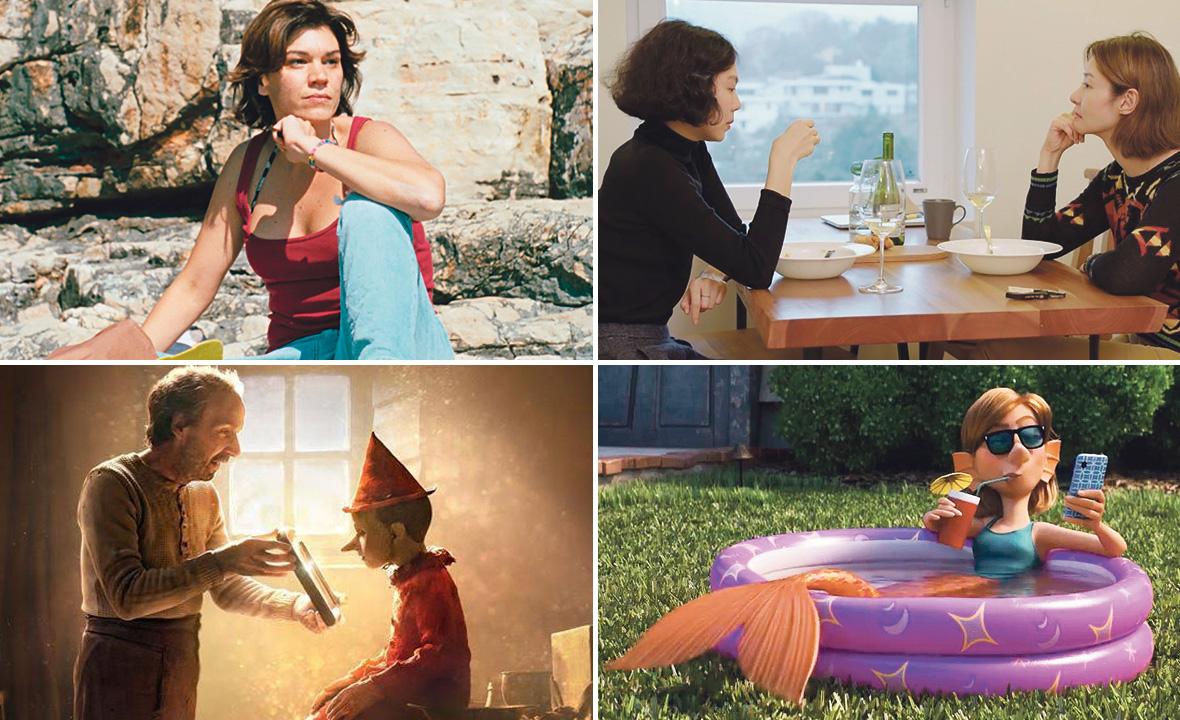Marija Škaričić u filmu 'Mare' (gore lijevo), 'Žena koja je utekla' (gore desno), 'Pinocchio' (dolje lijevo), 'Onward' (dolje desno)