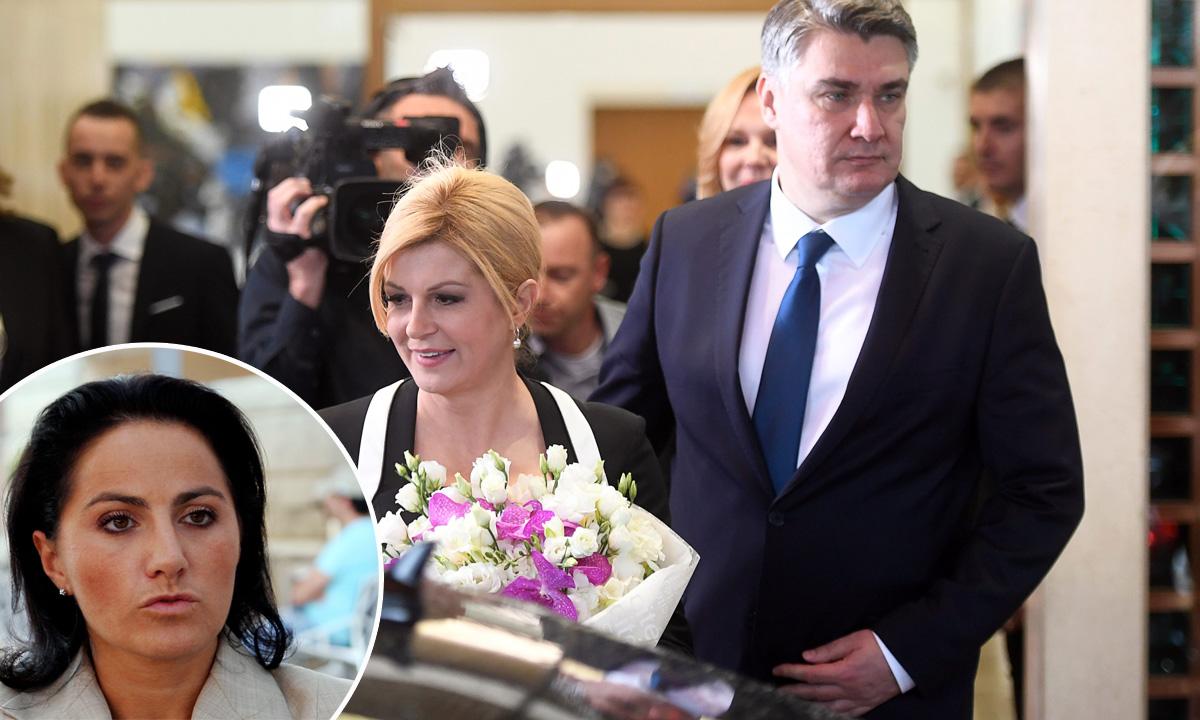 Kolinda Grabar Kitarović i Zoran Milanović, Bianca Matković (u krugu)