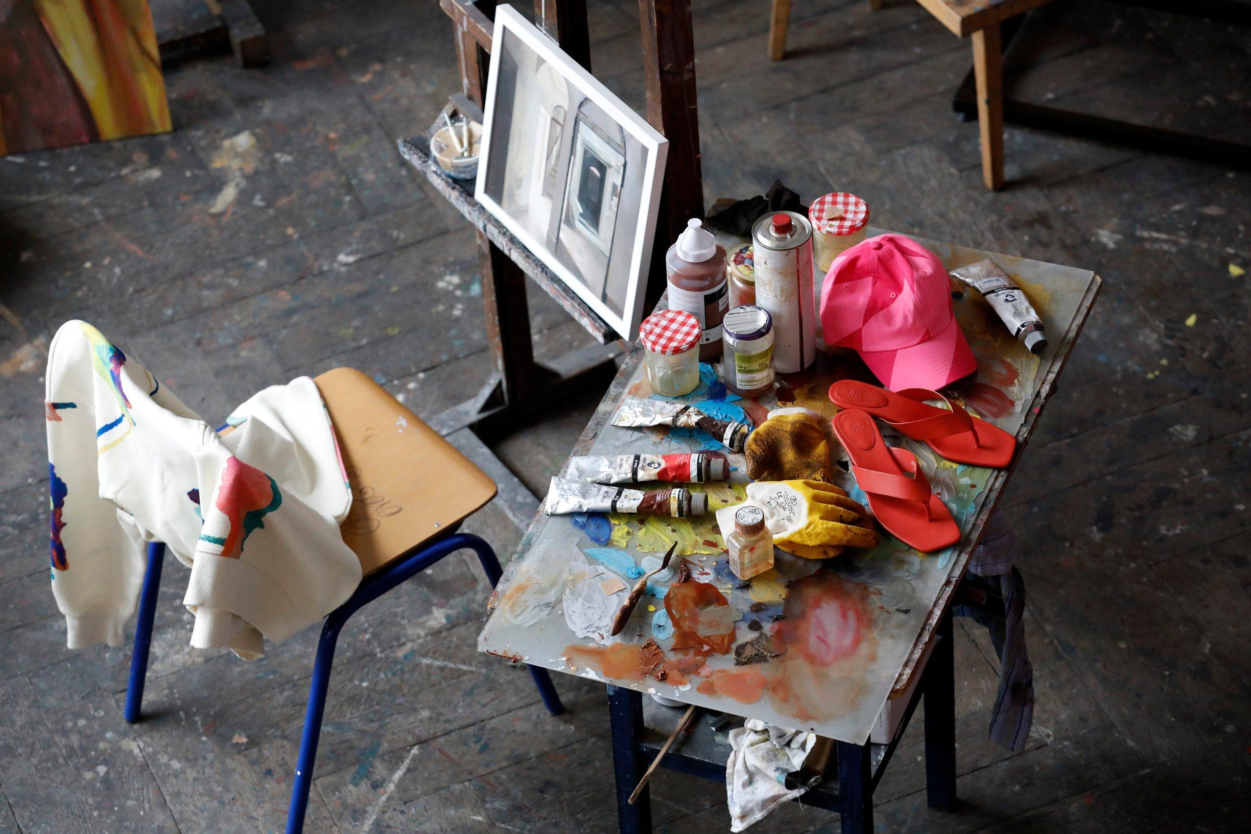 Zagreb, 180220. Akademija likovnih umjetnosti. H&M kolekcija 2020 predstavljena je u prostorijama akademije likovnih umjetnosti. Na fotografiji: H&M kolekcija 2020. Foto: Tomislav Kristo / CROPIX
