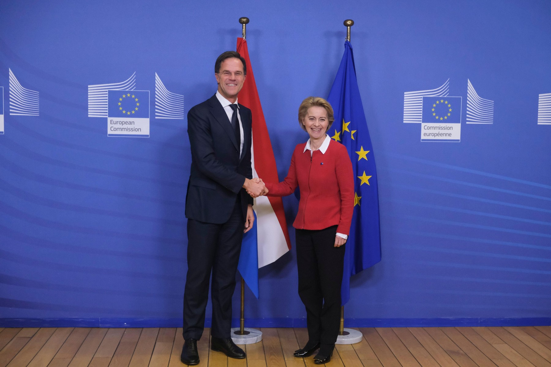 Nizozemski premijer Mark Rutte i predsjednica Europske komisije Ursula von der Leyen