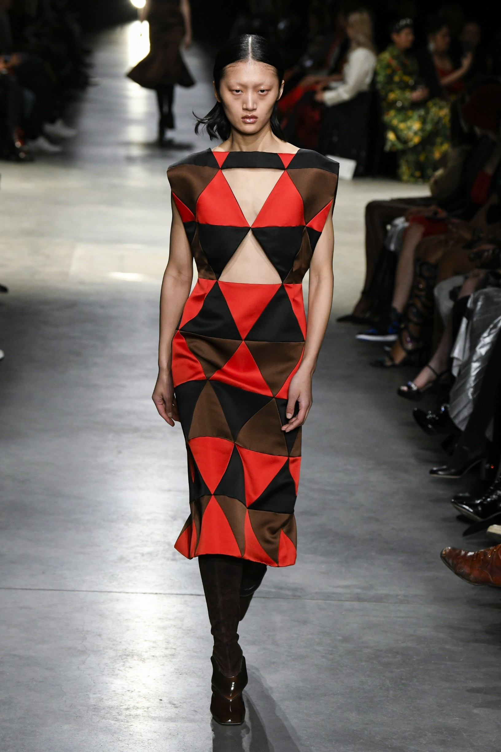 Model wears an outfit as part of the women ready-to-wear autumn winter 2020 2021, women fashion week, London, UK, from the house of Christopher Kane  //Z-PIXEL-FORMULA_A_009/2002182350/Credit:PIXELFORMULA/SIPA/2002182359, Image: 499410274, License: Rights-managed, Restrictions: , Model Release: no, Credit line: PIXELFORMULA / Sipa Press / Profimedia