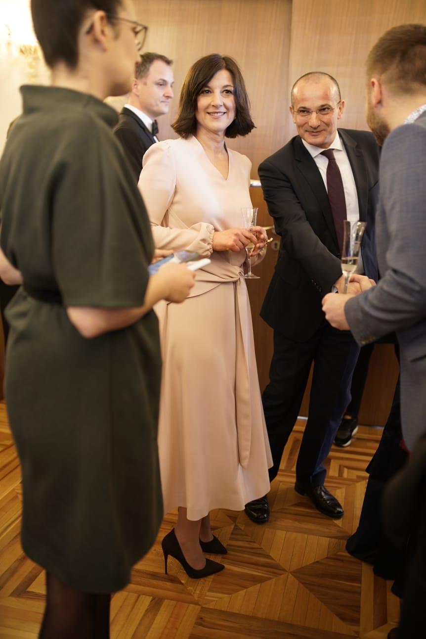 Sanja Musić Milanović na inauguraciji supruga Zorana.