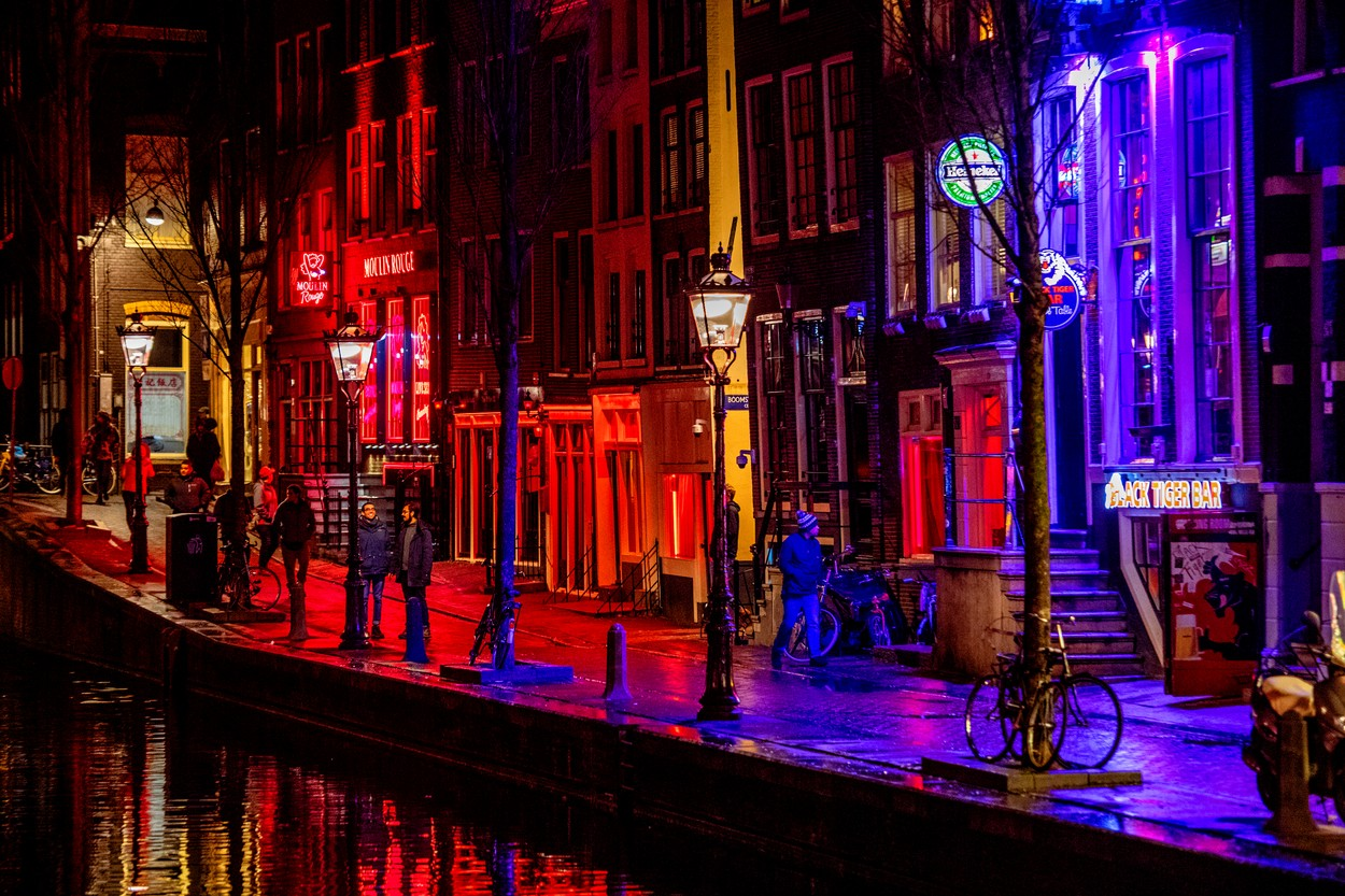 AMSTERDAM - Famous red light district in Amsterdam., Image: 411059754, License: Rights-managed, Restrictions: *** Germany, Italy, and The Netherlands Out ***, Model Release: no, Credit line: Robin Utrecht / ddp USA / Profimedia