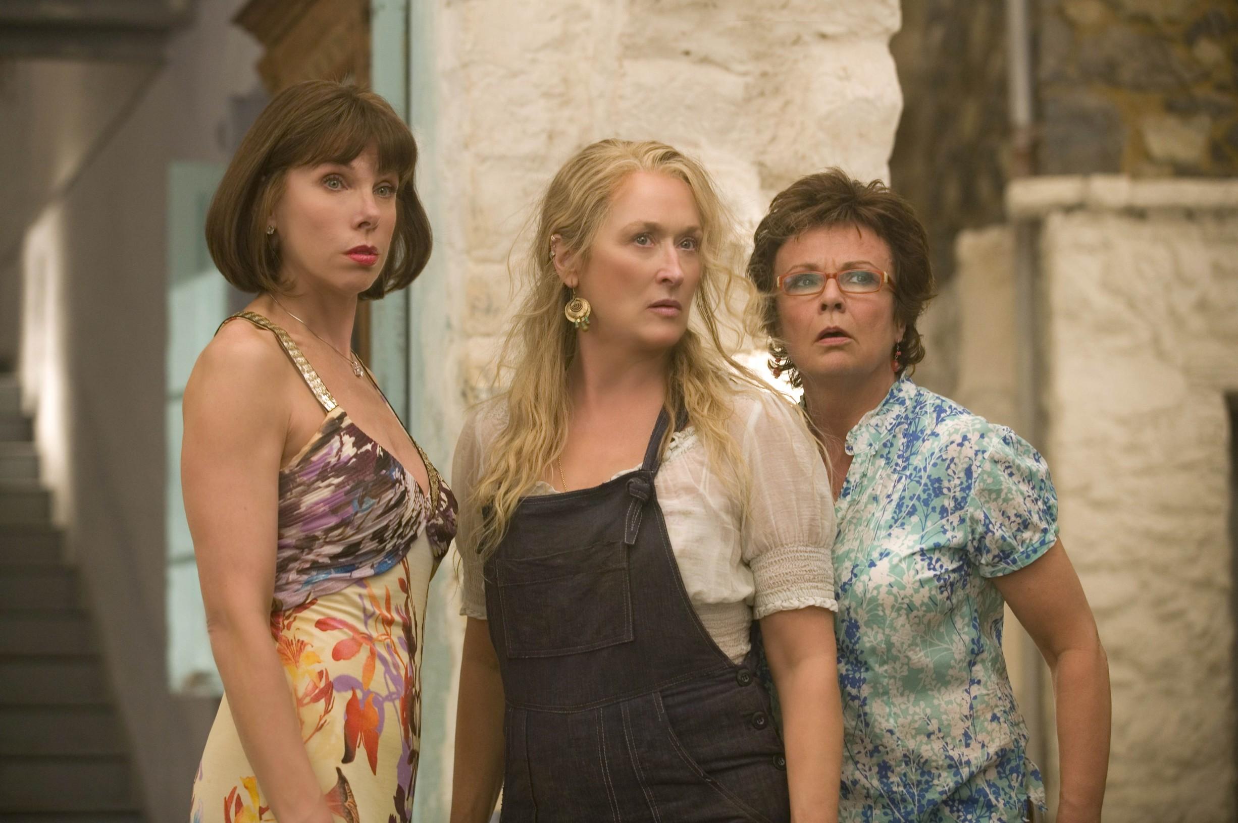 Christine Baranski, Meryl Streep i Julie Walters u filmu 'Mamma Mia!'