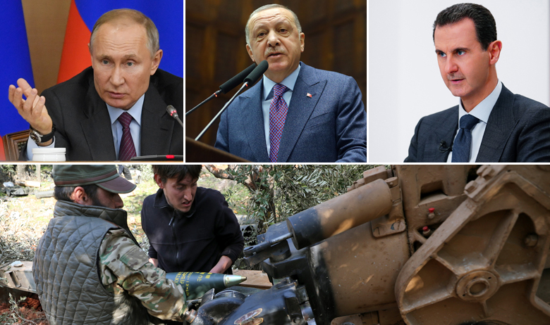 Vladimir Putin; Recep Tayyip Erdogan i Bašar al-Asad