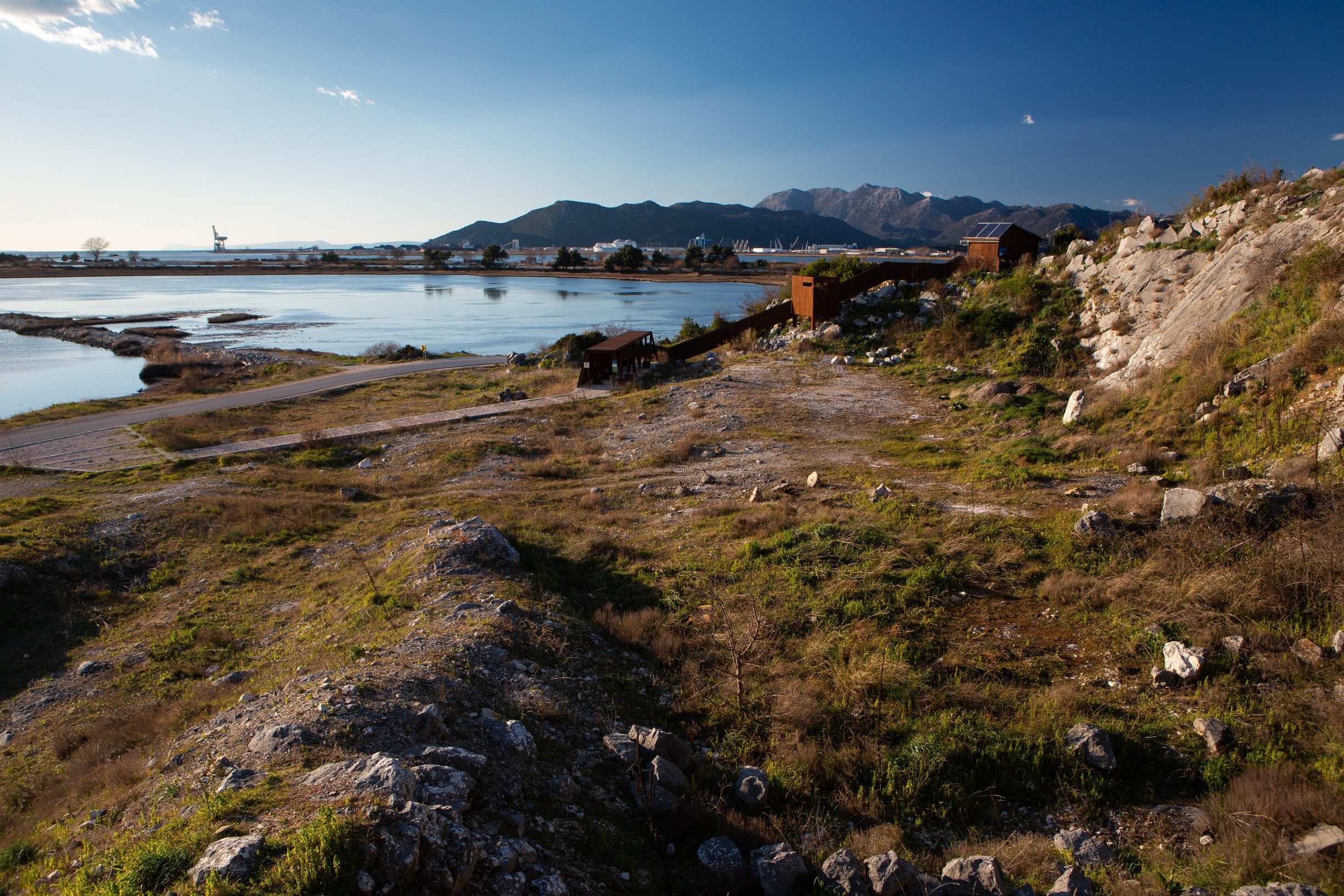 Split, 210220. Lokalitet na uscu Neretve, potencijalne lokacije za spomenik heroju NOBa Stjepanu Filipovicu. Foto: Sasa Buric / CROPIX