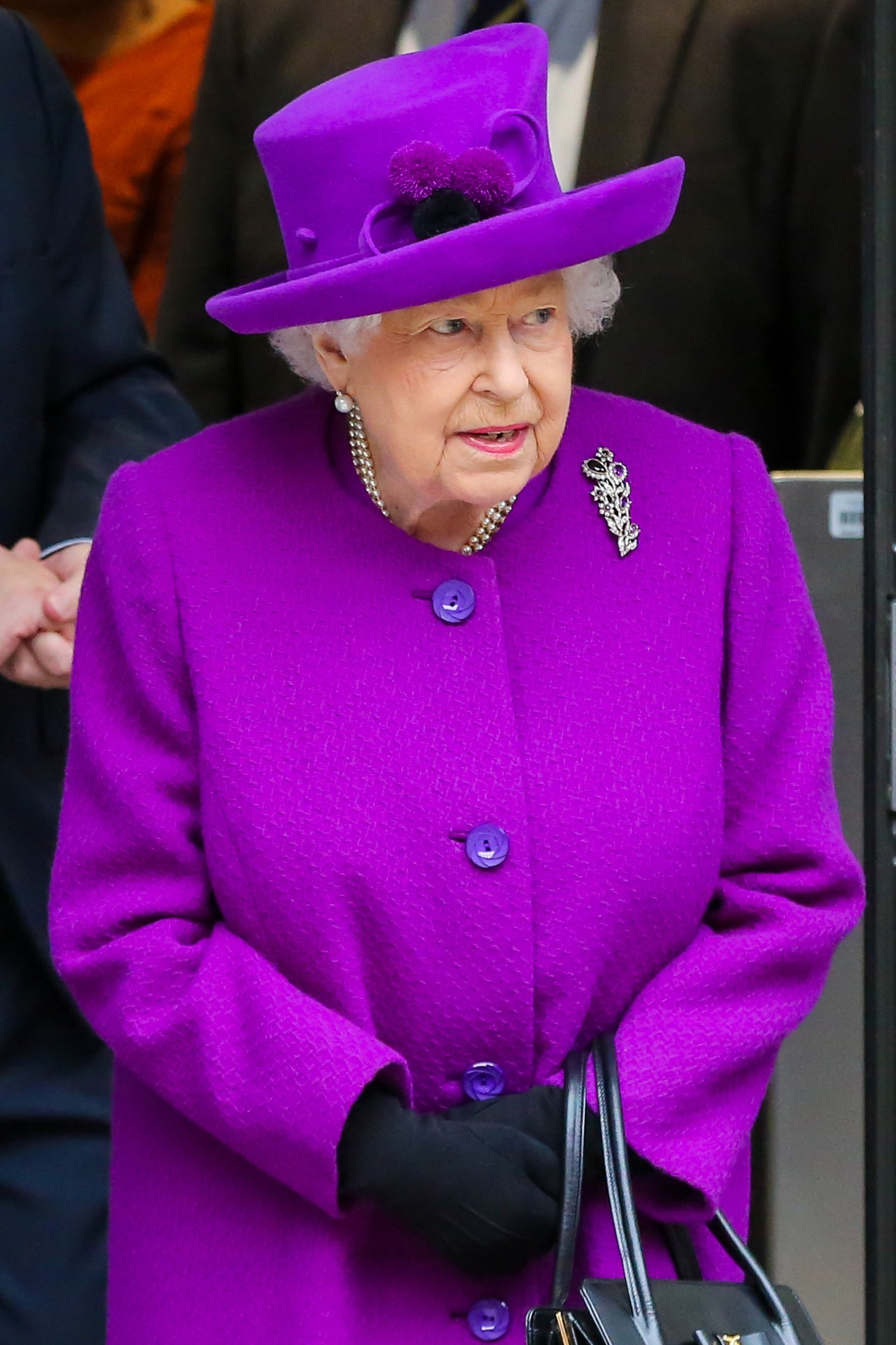 length coat and purple coloured hat leaves after the opening the new premises of the Royal National Throat, Nose and Ear hospital and Eastman Dental Hospital in central London. 19 Feb 2020, Image: 499652781, License: Rights-managed, Restrictions: NO Argentina, Australia, Bolivia, Brazil, Chile, Colombia, Finland, France, Georgia, Hungary, Japan, Mexico, Netherlands, New Zealand, Poland, Romania, Russia, South Africa, Uruguay, Model Release: no, Credit line: ZUMAPRESS.com / MEGA / The Mega Agency / Profimedia