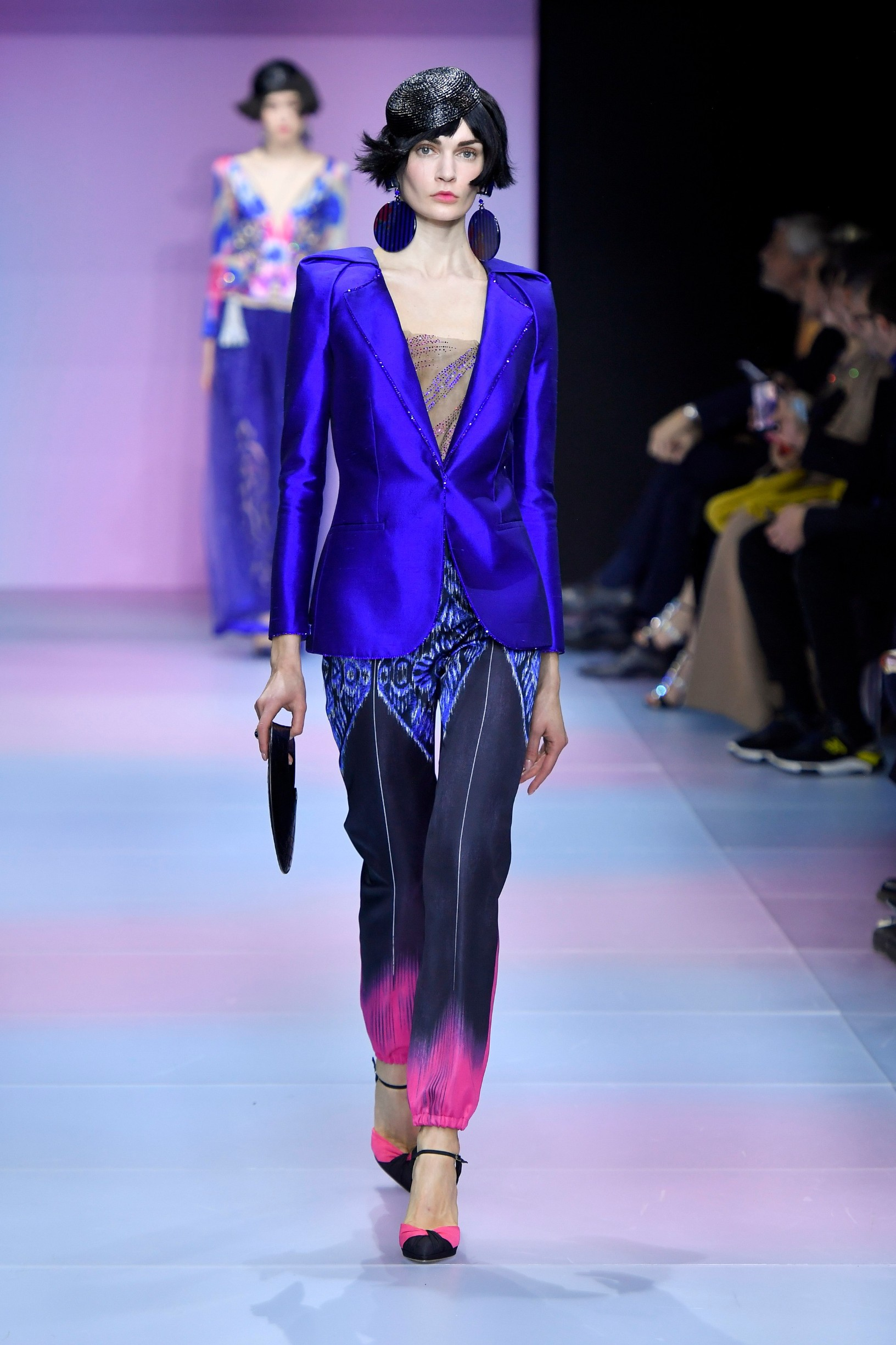 Model walks on the runway during the Giorgio Armani Prive  Haute Couture fashion show during Haute Couture Spring Summer  2020 in Paris, France on Jan. 21, 2020., Image: 494094255, License: Rights-managed, Restrictions: *** World Rights ***, Model Release: no, Credit line: Jonas Gustavsson / ddp USA / Profimedia