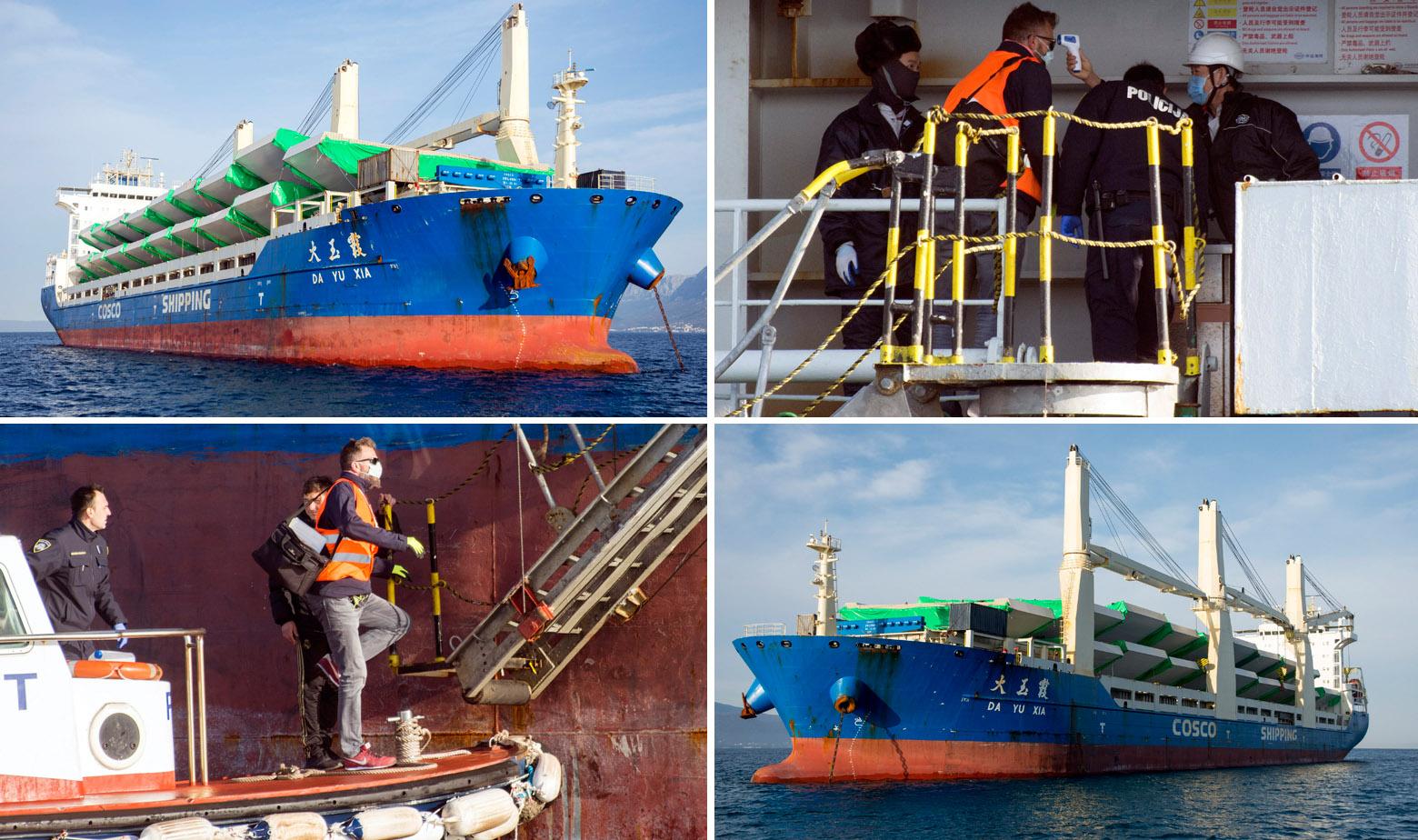 Sanitarna inspekcija i policija pregledavaju kineski brod DA YU XIA