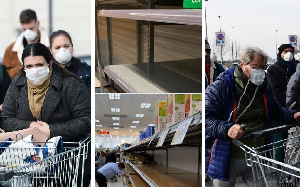 Iz Italije dolaze slike praznih polica u trgovinama