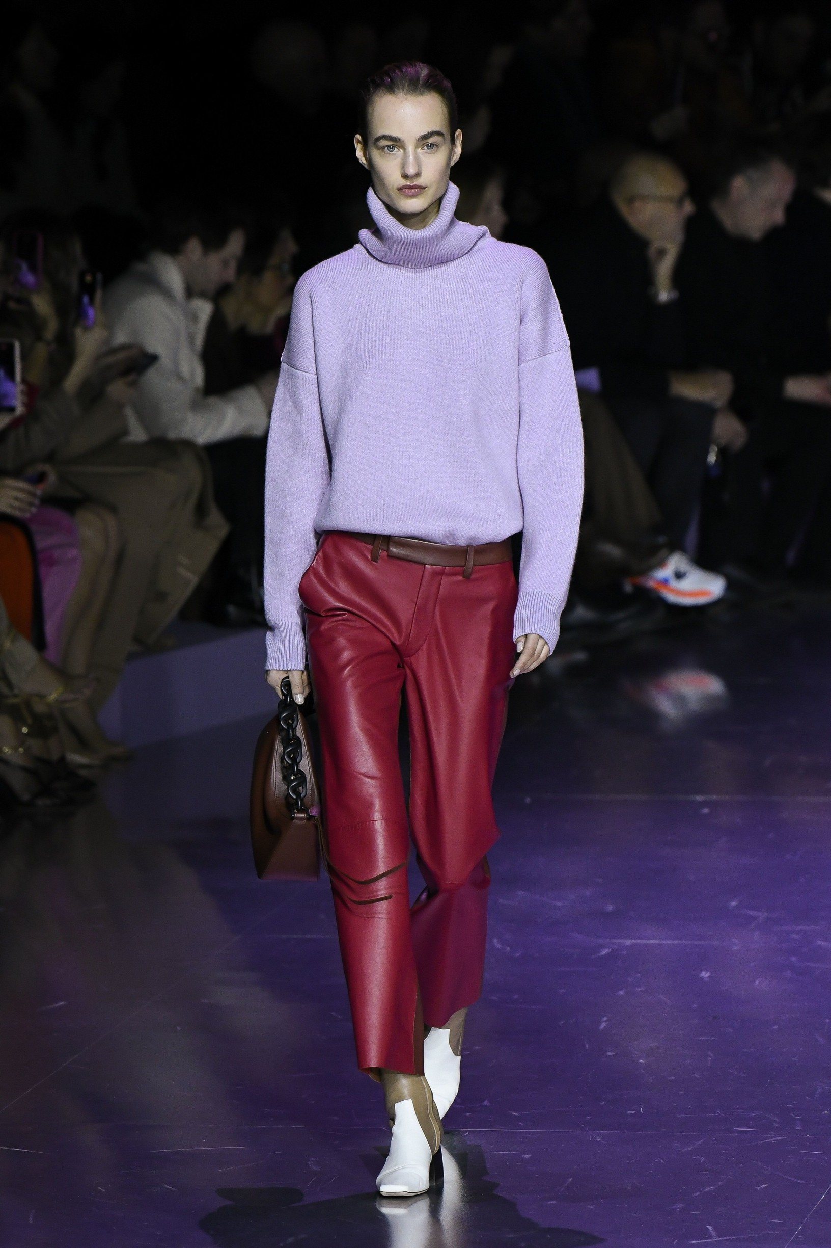 Model wears an outfit as part of the women ready-to-wear autumn winter 2020 2021, women fashion week, Milan, ITA, from the house of BOSS  //Z-PIXEL-FORMULA_C_022/2002232229/Credit:PIXELFORMULA/SIPA/2002232236, Image: 500550234, License: Rights-managed, Restrictions: , Model Release: no, Credit line: PIXELFORMULA / Sipa Press / Profimedia