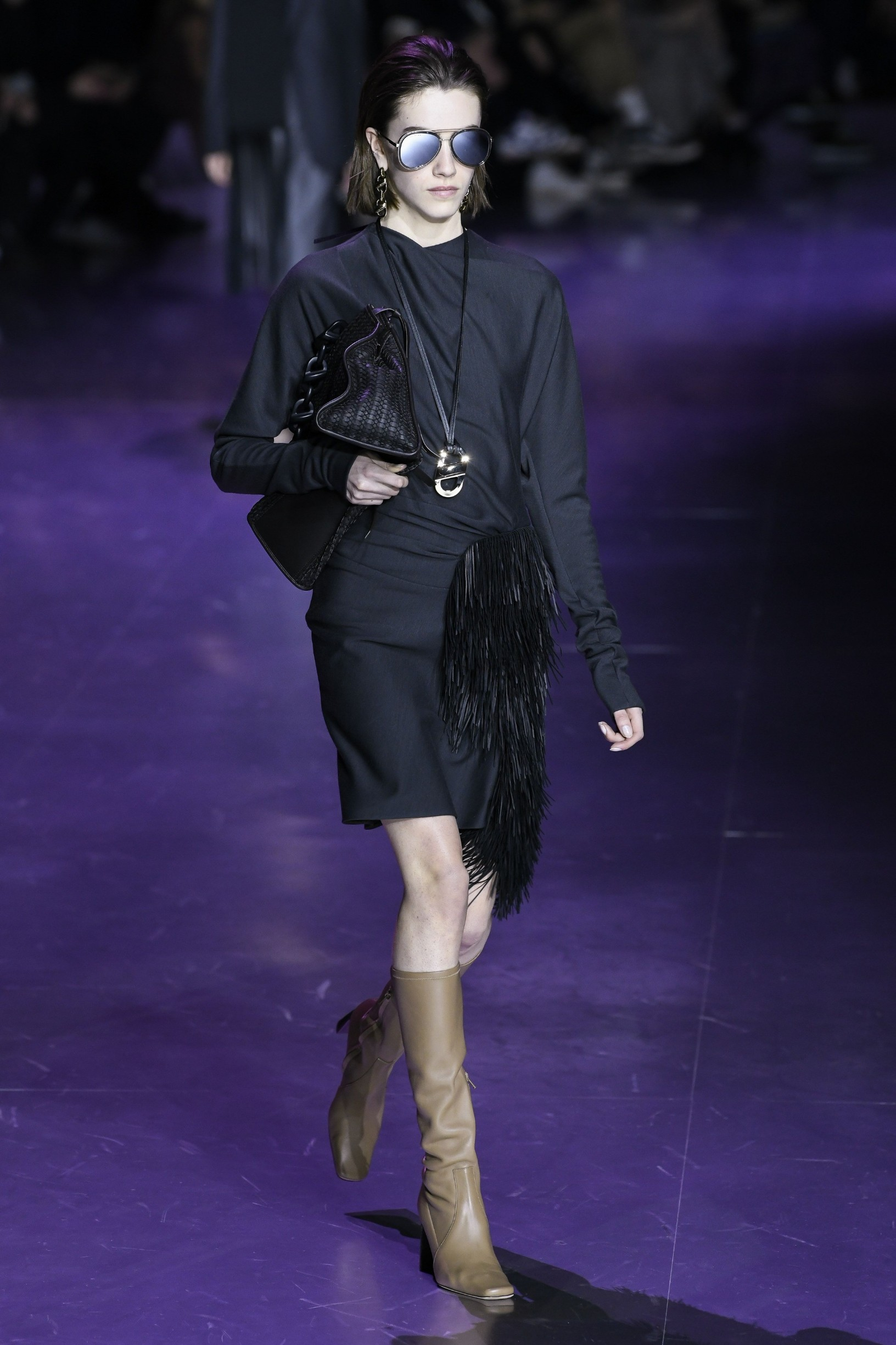 Model wears an outfit as part of the women ready-to-wear autumn winter 2020 2021, women fashion week, Milan, ITA, from the house of BOSS  //Z-PIXEL-FORMULA_C_103/2002232250/Credit:PIXELFORMULA/SIPA/2002232253, Image: 500550826, License: Rights-managed, Restrictions: , Model Release: no, Credit line: PIXELFORMULA / Sipa Press / Profimedia